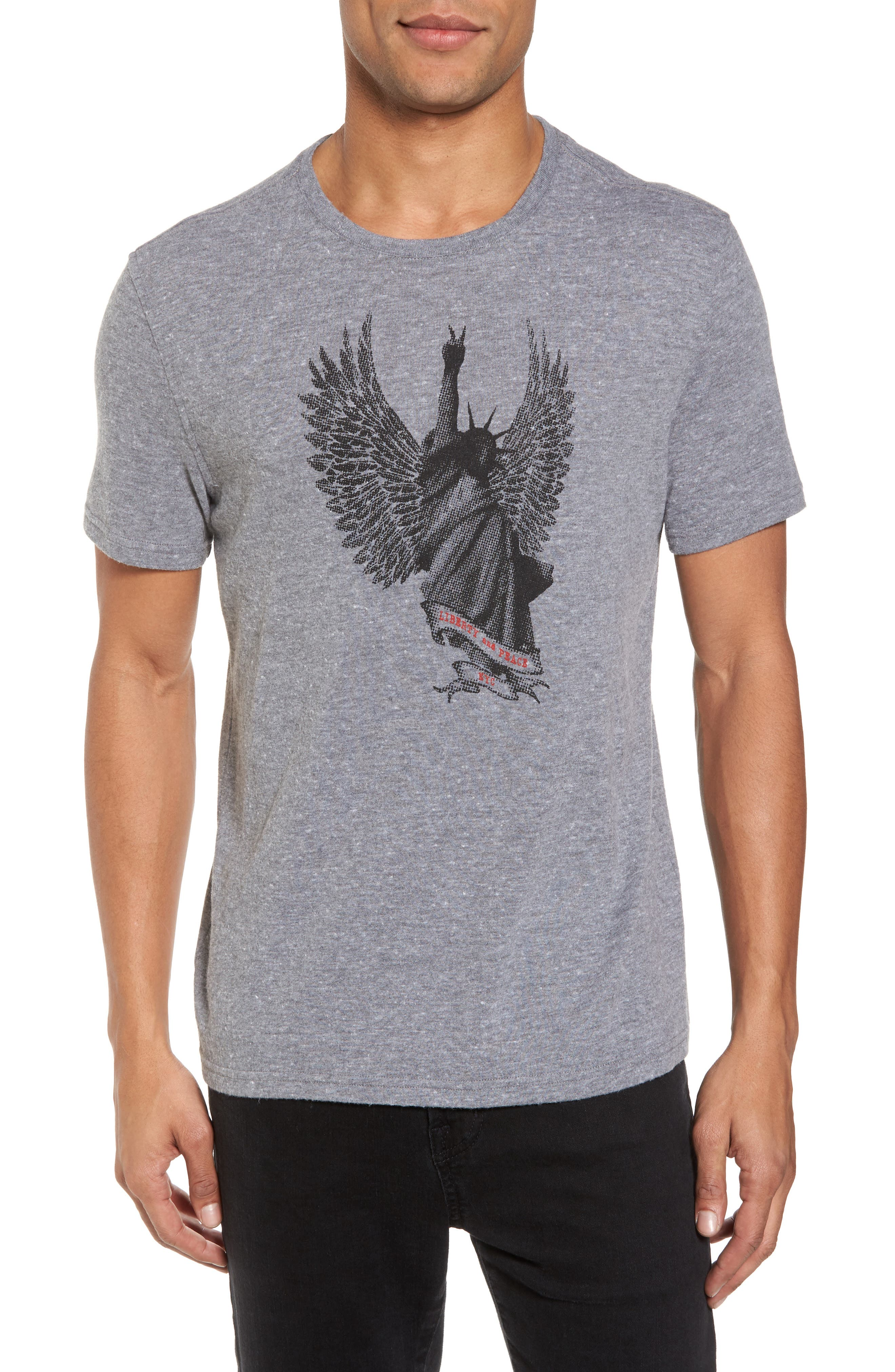Liberty Wings Graphic T-Shirt,                         Main,                         color, Hematite