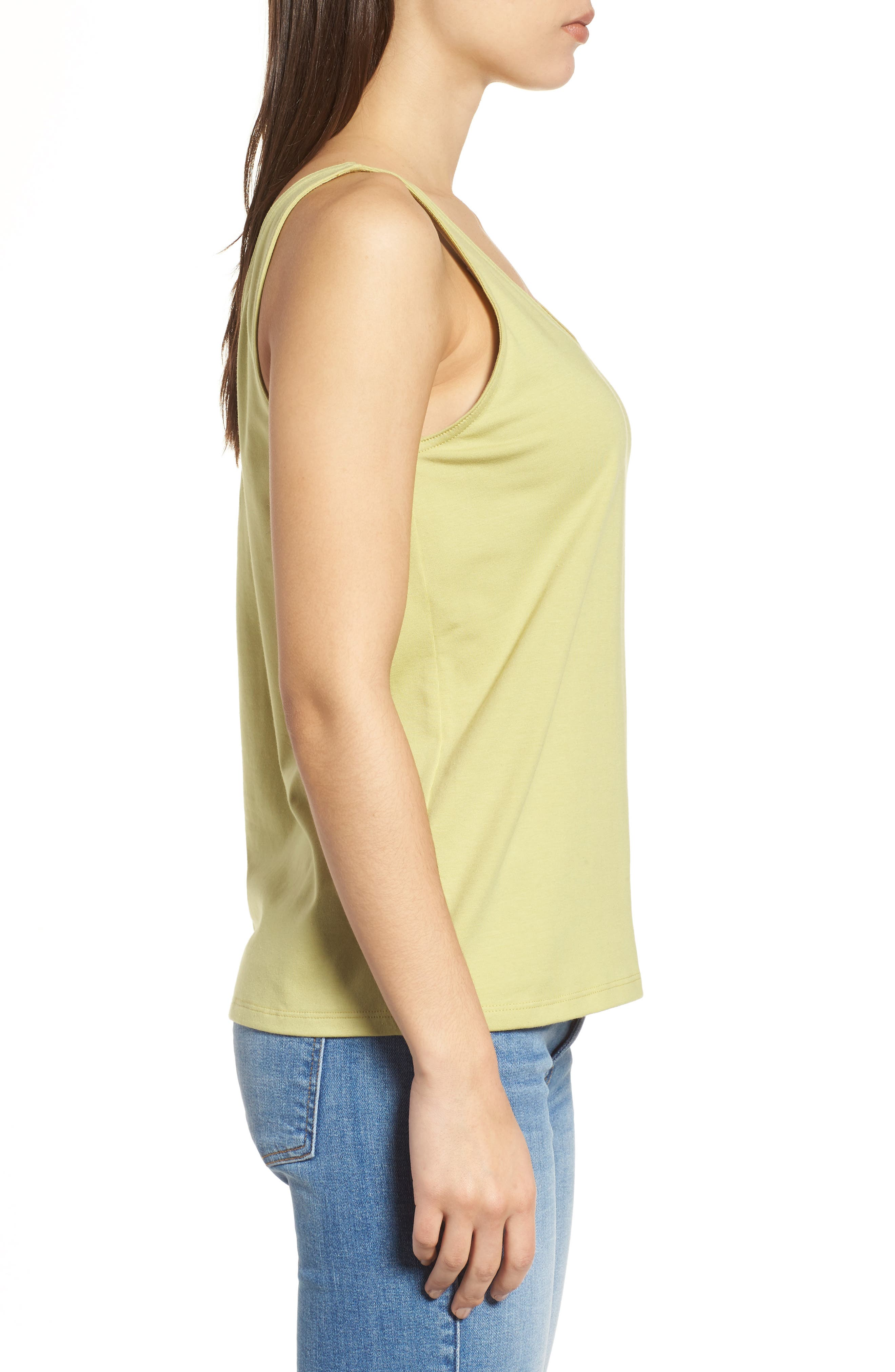 Alternate Image 3  - Eileen Fisher Organic Cotton Stretch Jersey Tank
