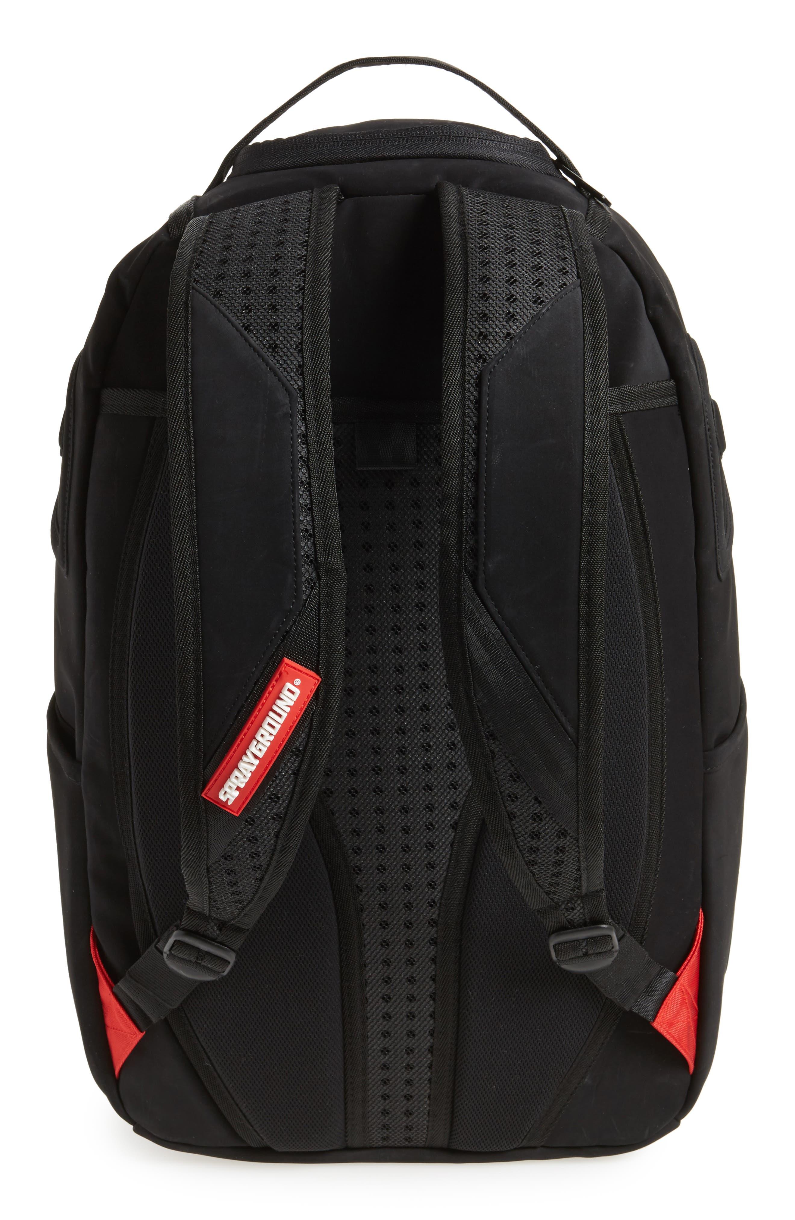 Ghost Shark Backpack,                             Alternate thumbnail 3, color,                             Black