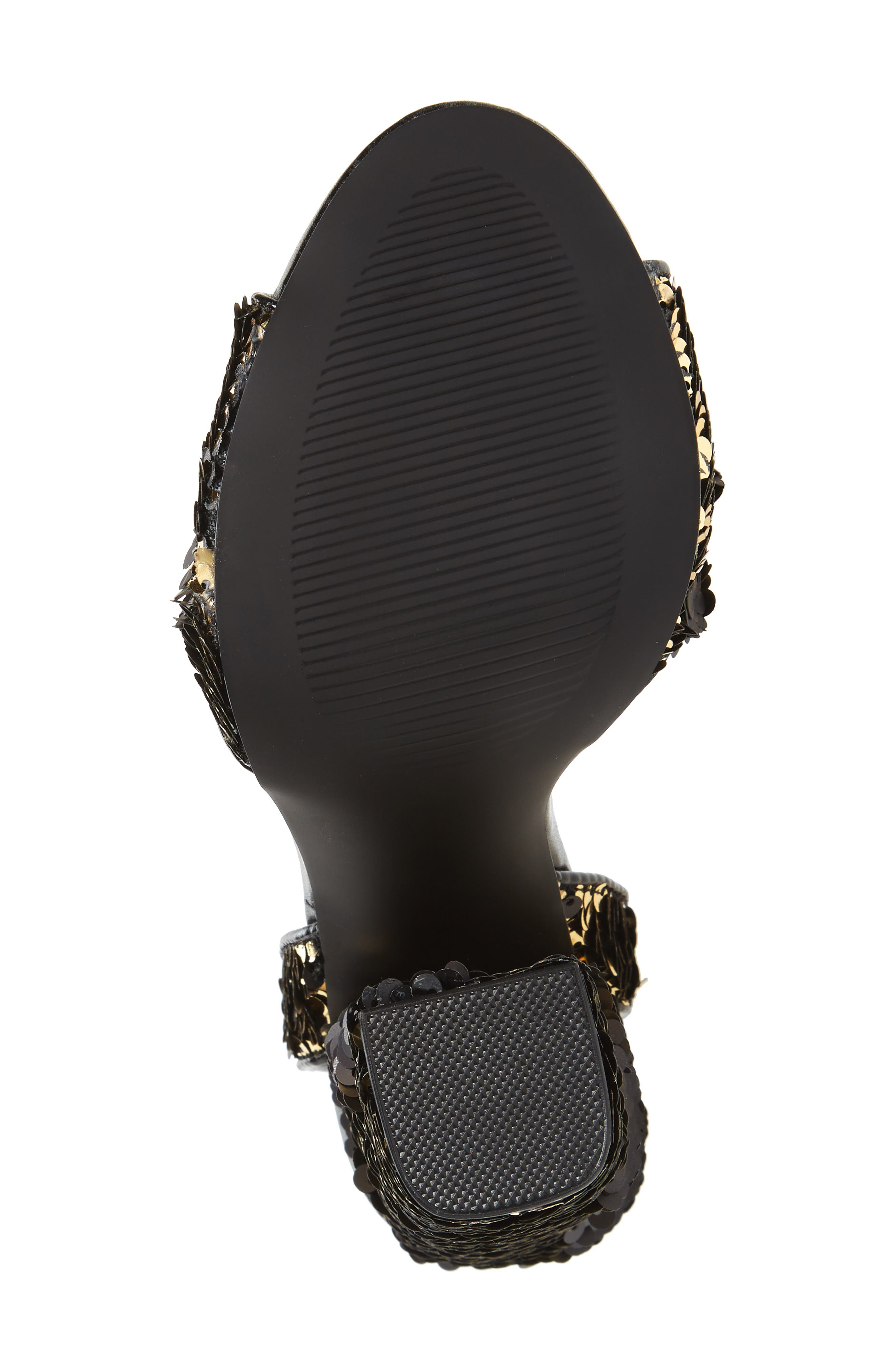 Ritzy Flip Sequin Sandal,                             Alternate thumbnail 6, color,                             Gold