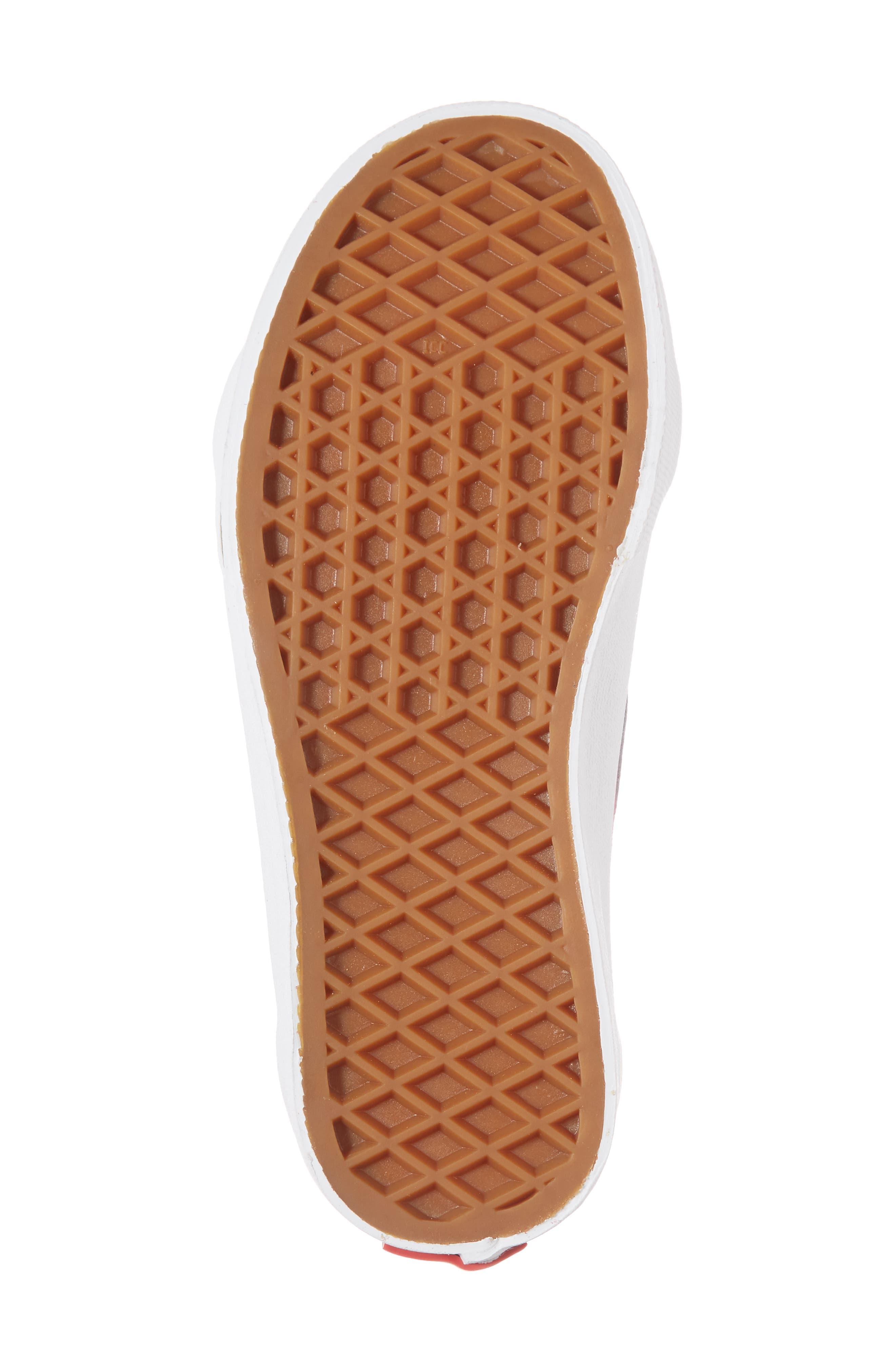 'Sk8-Hi' Zip Sneaker,                             Alternate thumbnail 6, color,                             Persian Red/ True White