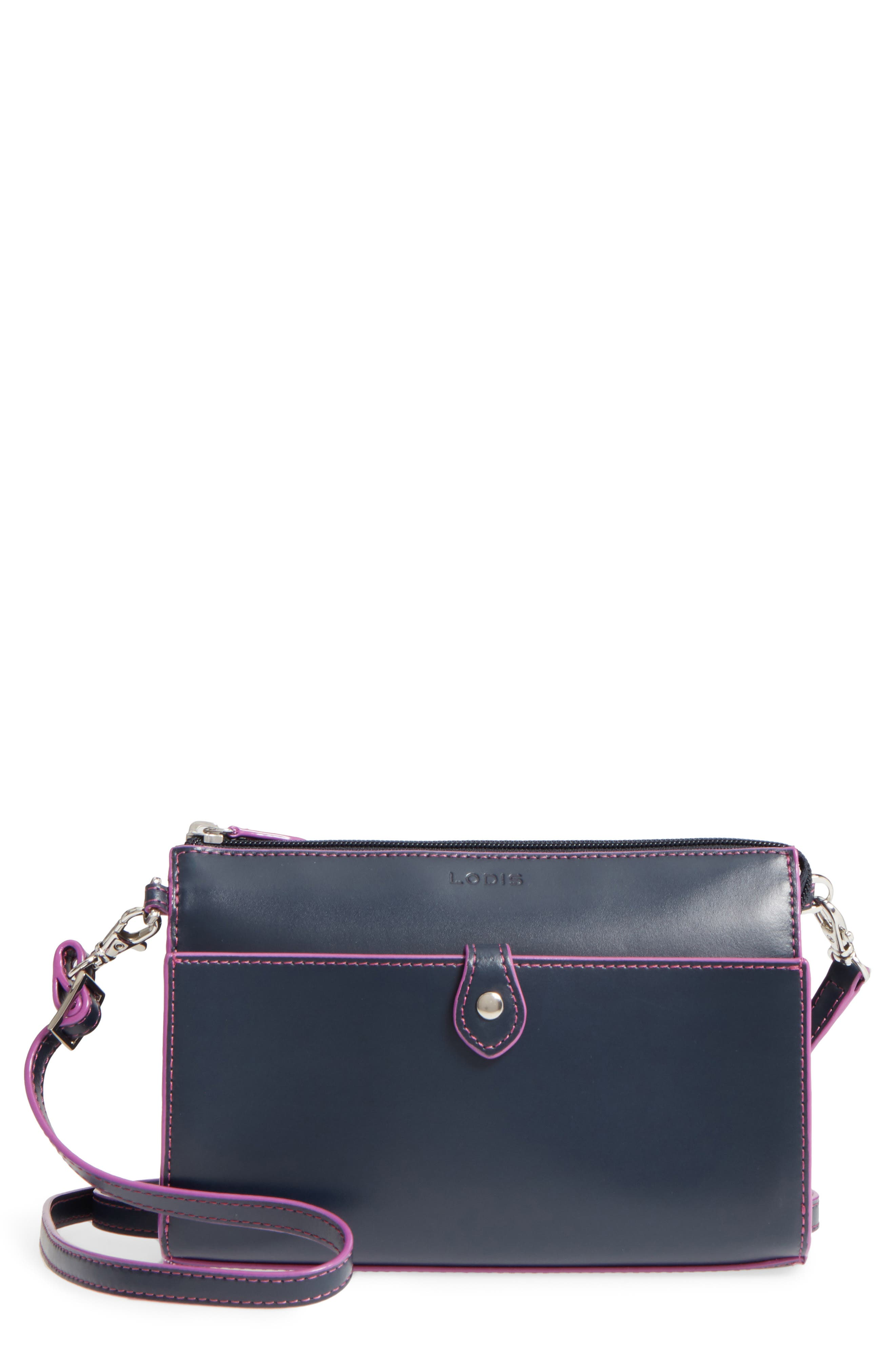 Lodis Audrey Under Lock & Key Vicky Convertible Leather Crossbody Bag