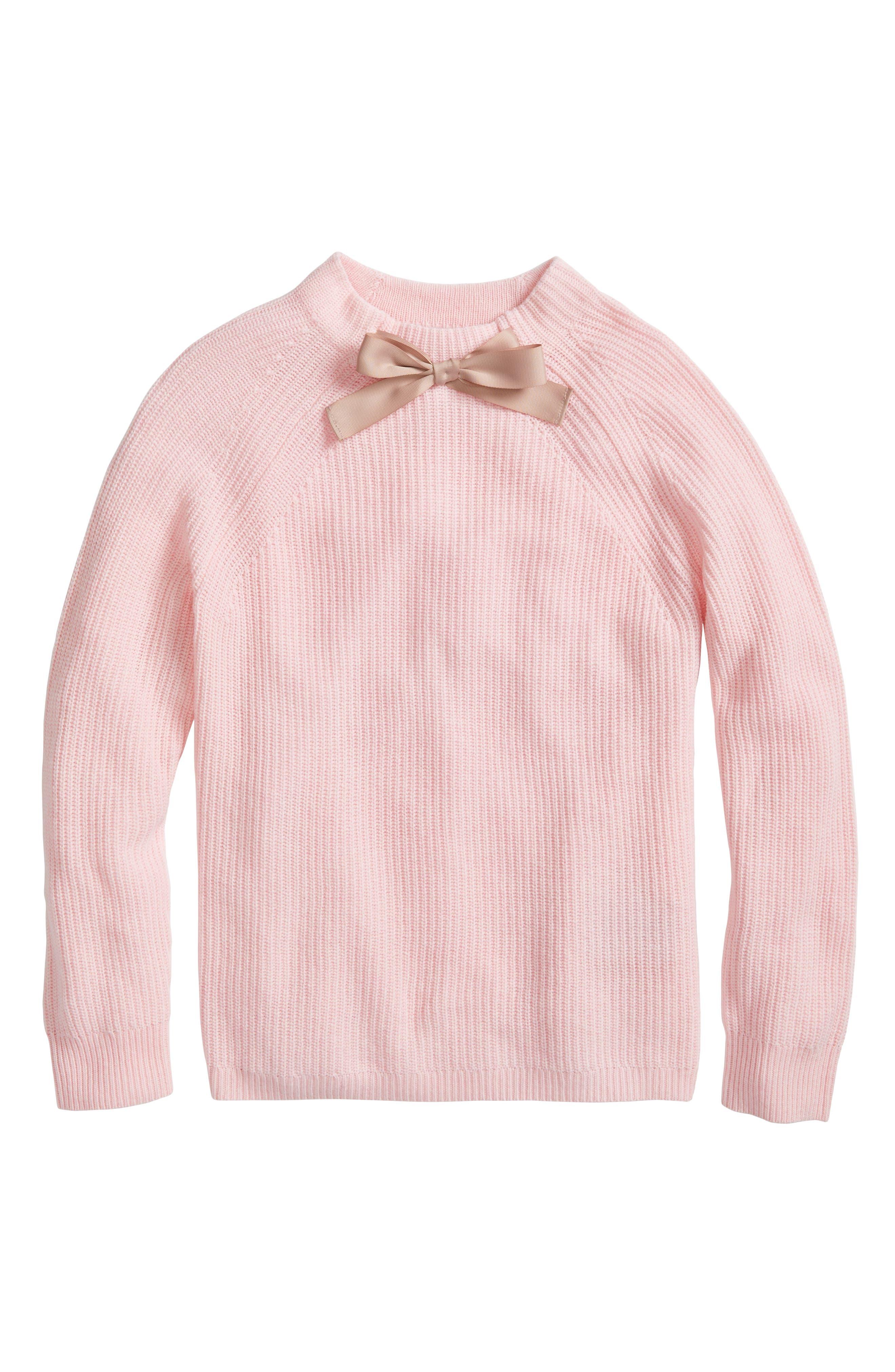 Gayle Tie Neck Sweater,                         Main,                         color, Heather Petal