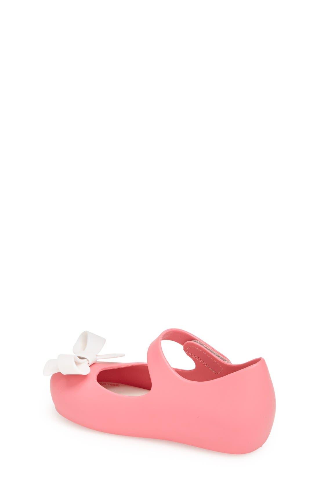 'Ultragirl Bow' Mary Jane Flat,                             Alternate thumbnail 2, color,                             Pink White