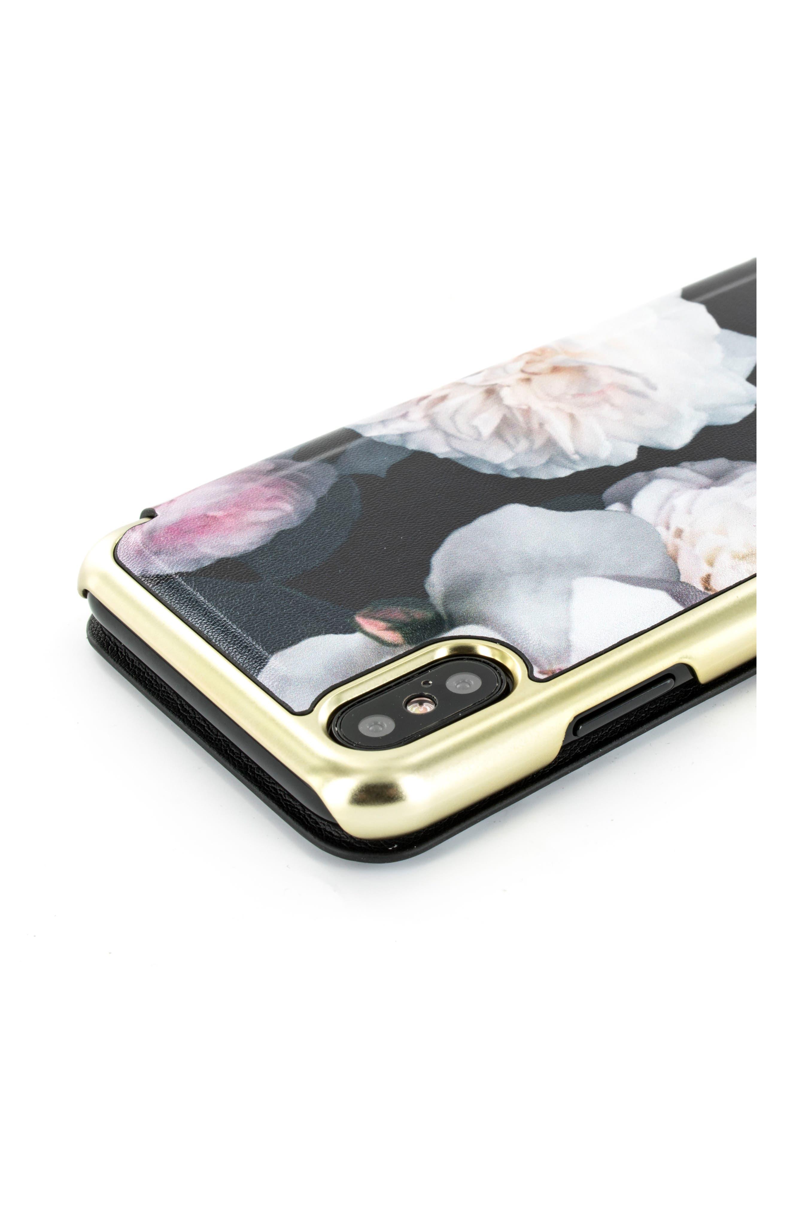 Chelsea iPhone 6/6s/7/8 & 6/6s/7/8 Plus Mirror Folio Case,                             Alternate thumbnail 5, color,                             Chelsea Black