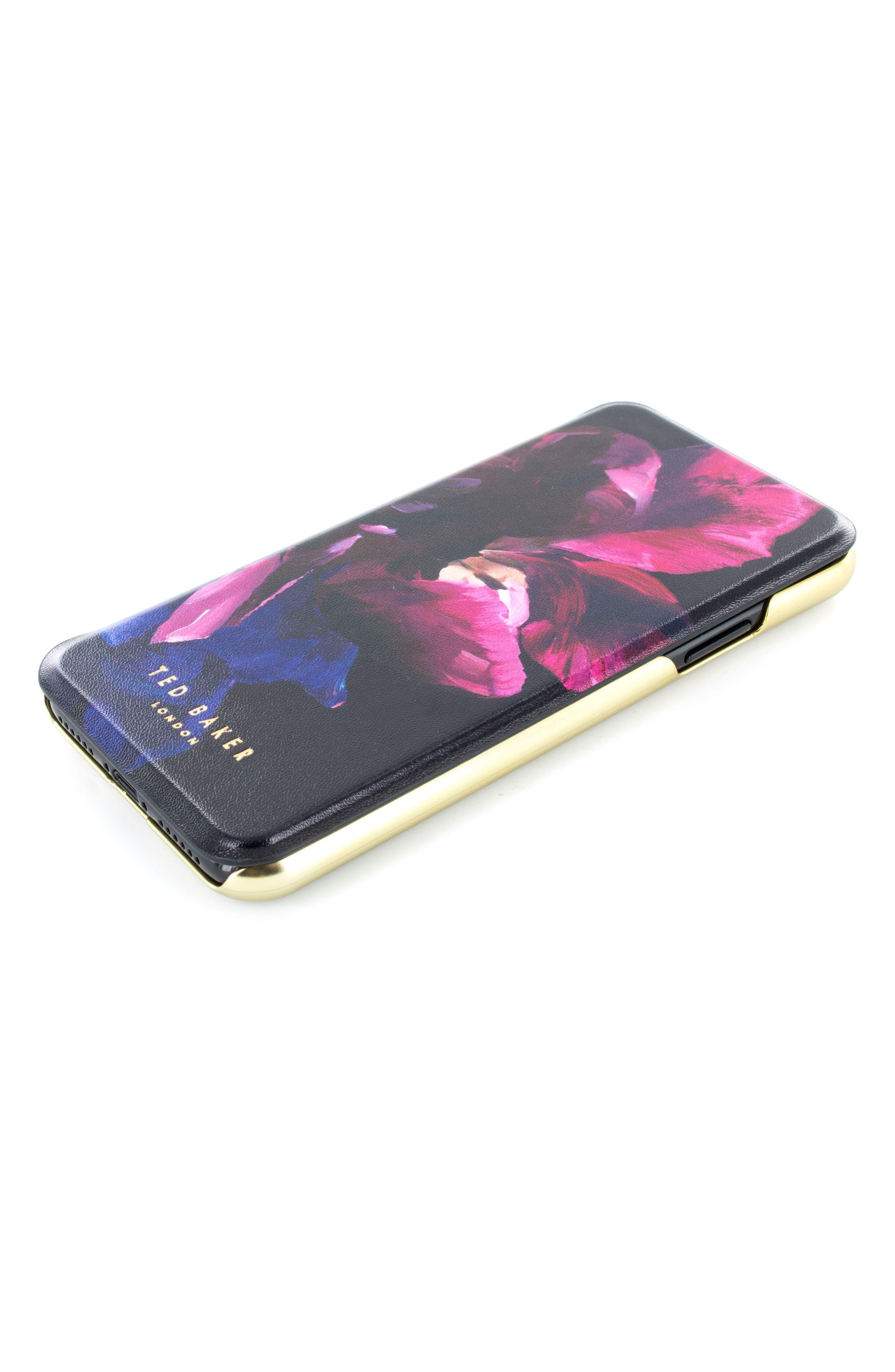Impressionist Bloom iPhone X Mirror Folio Case,                             Main thumbnail 1, color,                             Impressionist Bloom
