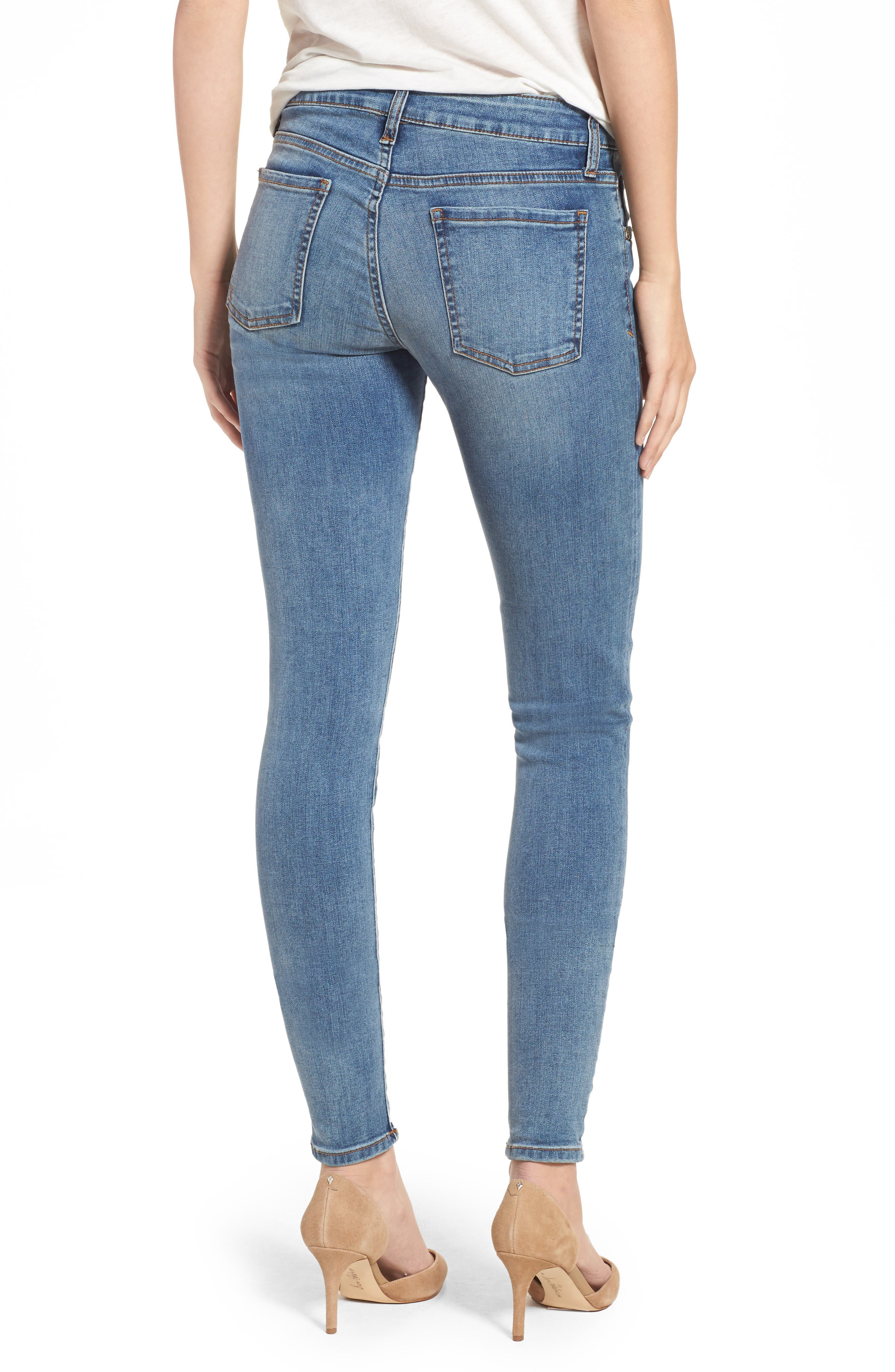 Donna Skinny Jeans,                             Alternate thumbnail 2, color,                             Venturesome