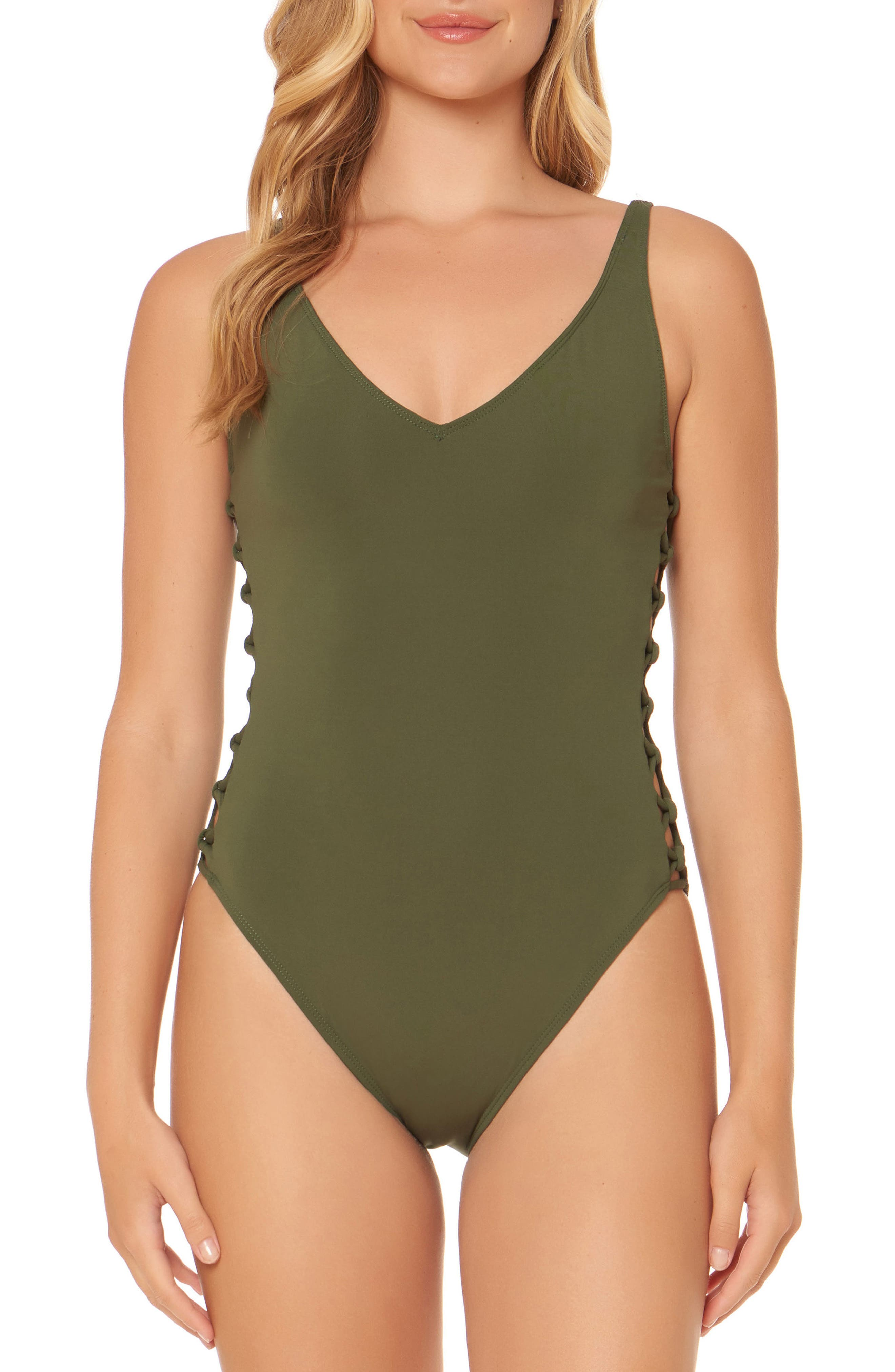 BLEU by Rod Beattie Lattice One-Piece Swimsuit