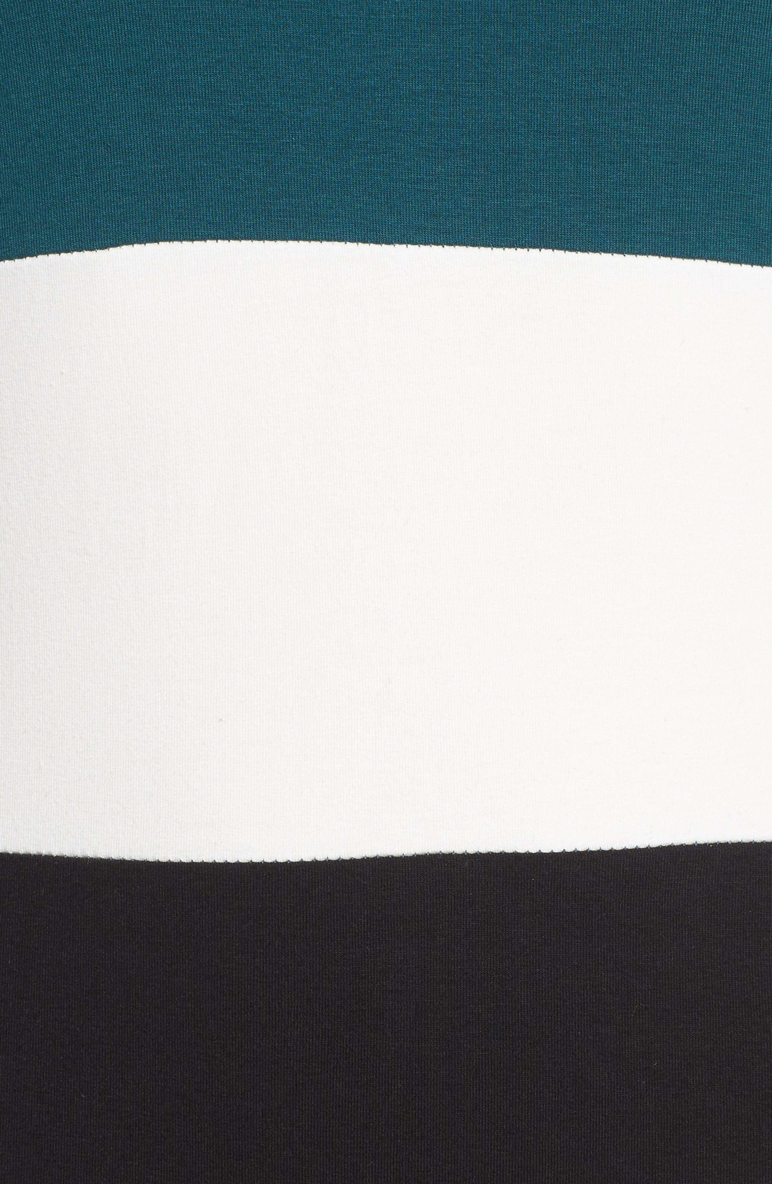 Bianca Bodysuit,                             Alternate thumbnail 6, color,                             Deep Teal/ Gardenia/ Black