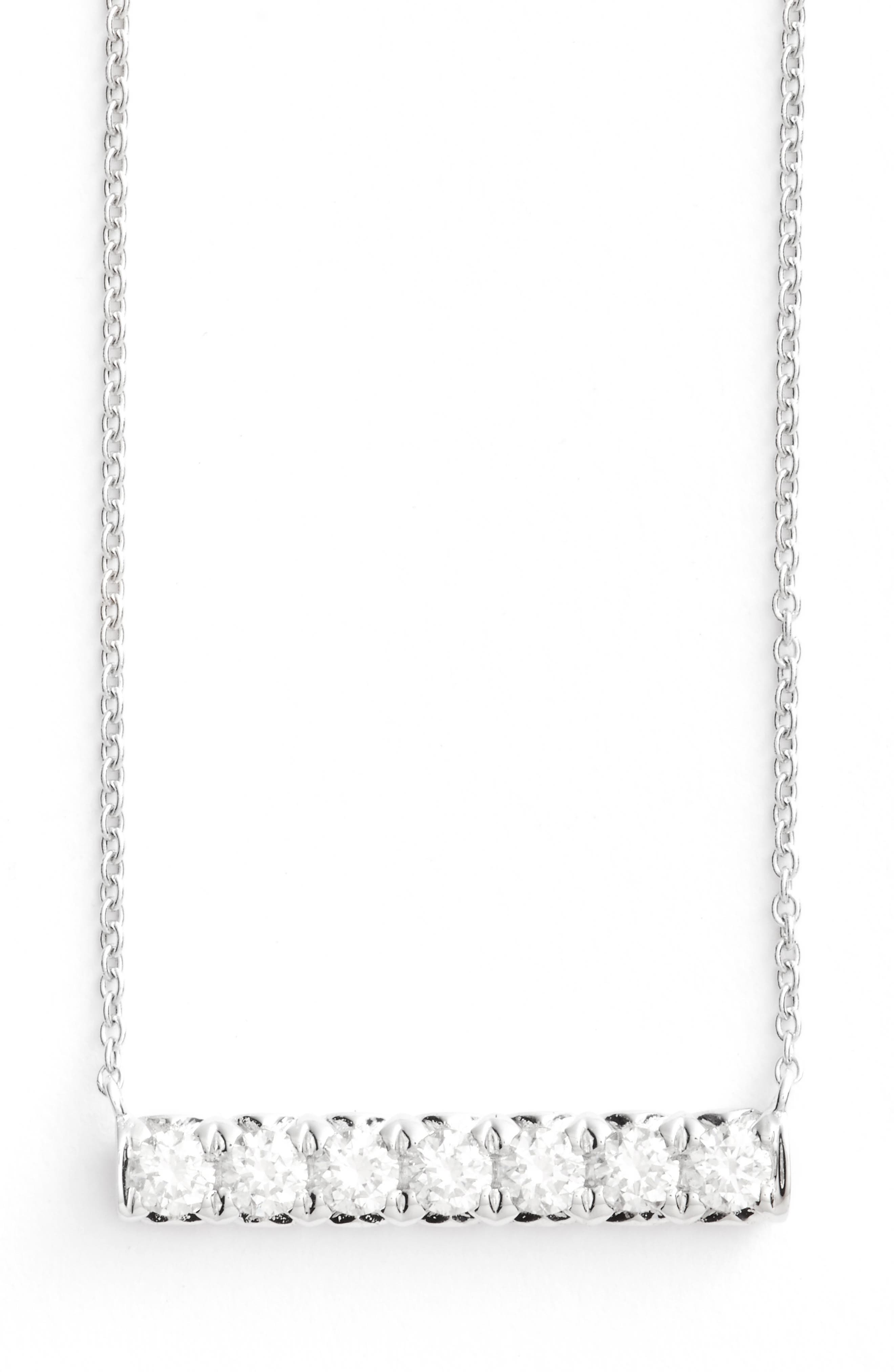 Kiera Diamond Pendant Necklace,                             Main thumbnail 1, color,                             White Gold