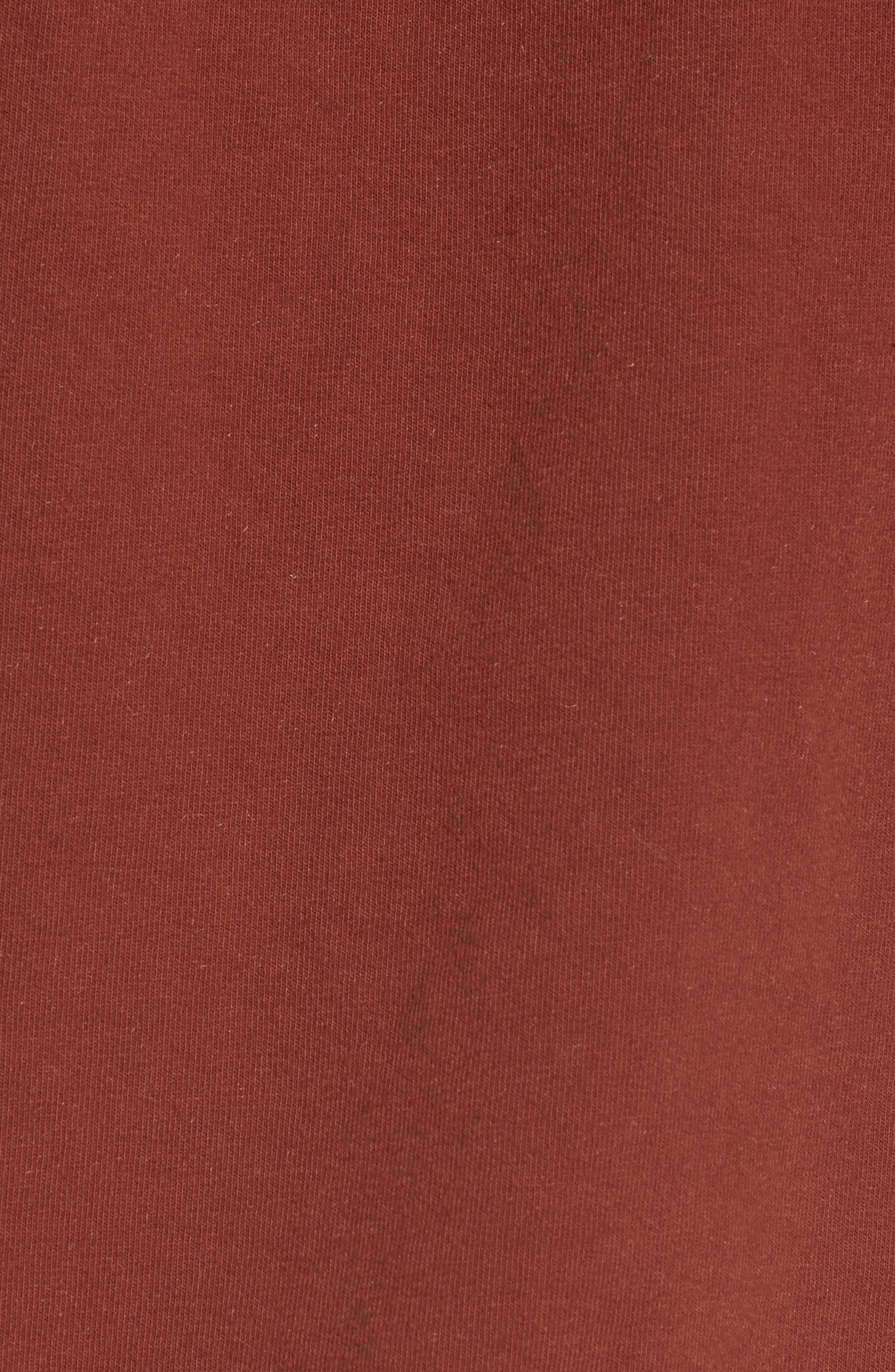 Infinity Knot Sweatshirt,                             Alternate thumbnail 5, color,                             Marsala