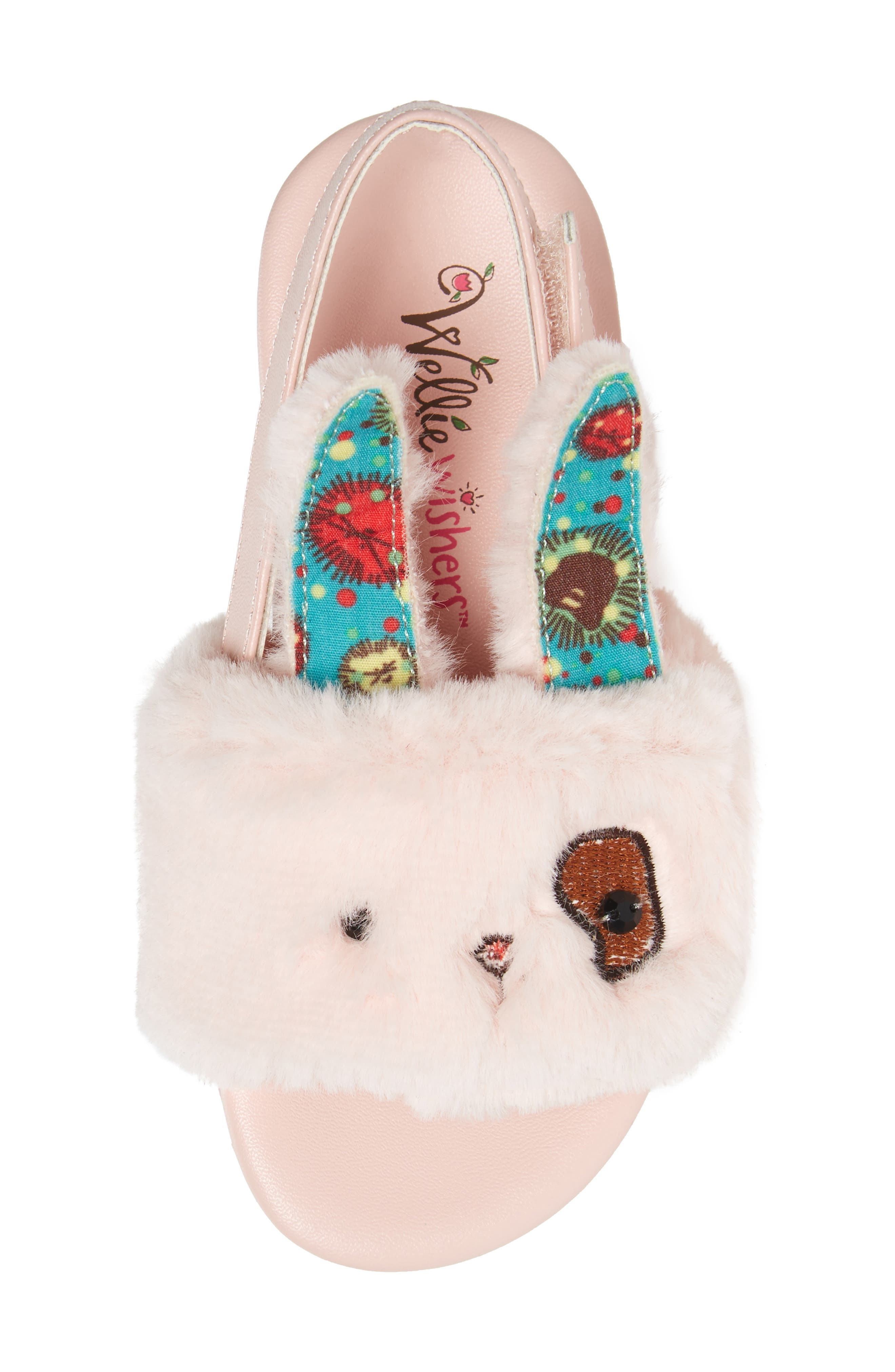 Alternate Image 1 Selected - WellieWishers from American Girl Willa Carrot Faux Fur Strap Slide Sandal (Walker & Toddler)
