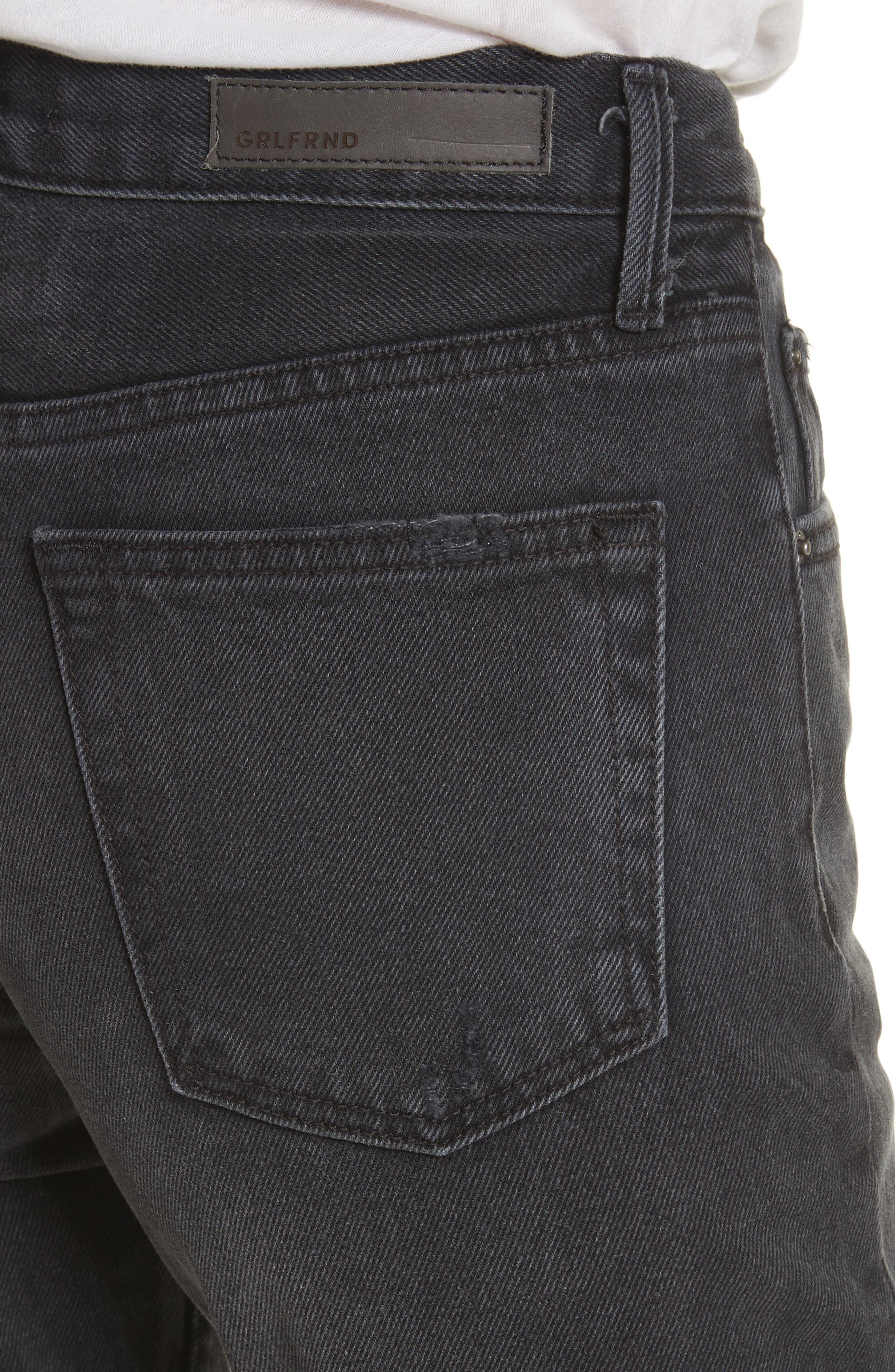 Alternate Image 4  - GRLFRND Helena Rigid High Waist Straight Jeans (Proud Mary)