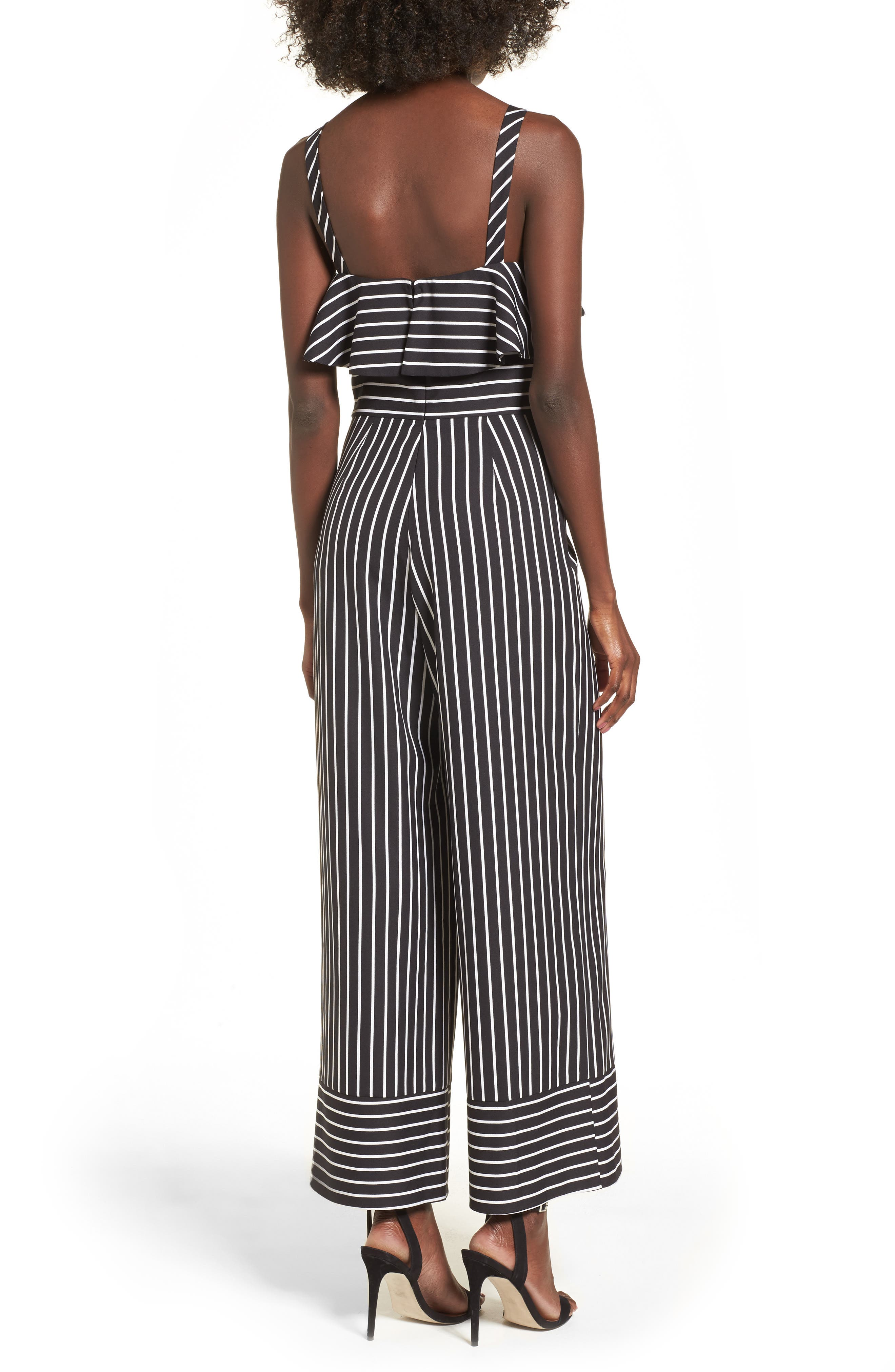 Stripe Jumpsuit,                             Alternate thumbnail 2, color,                             Black Bold Stripe
