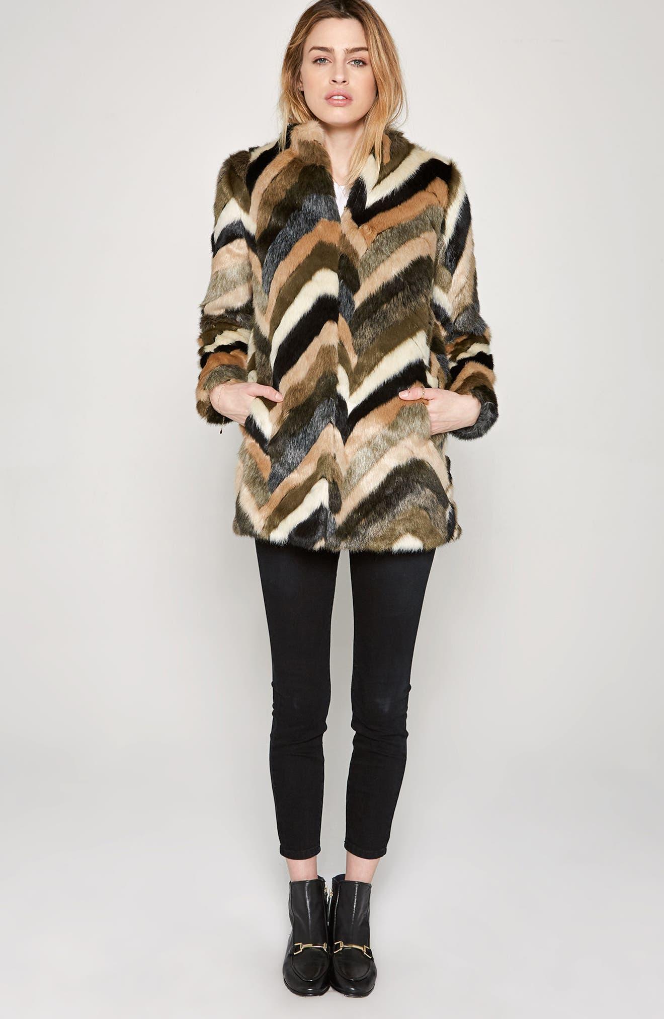 Alternate Image 2  - Amuse Society Waylon Faux Fur Jacket