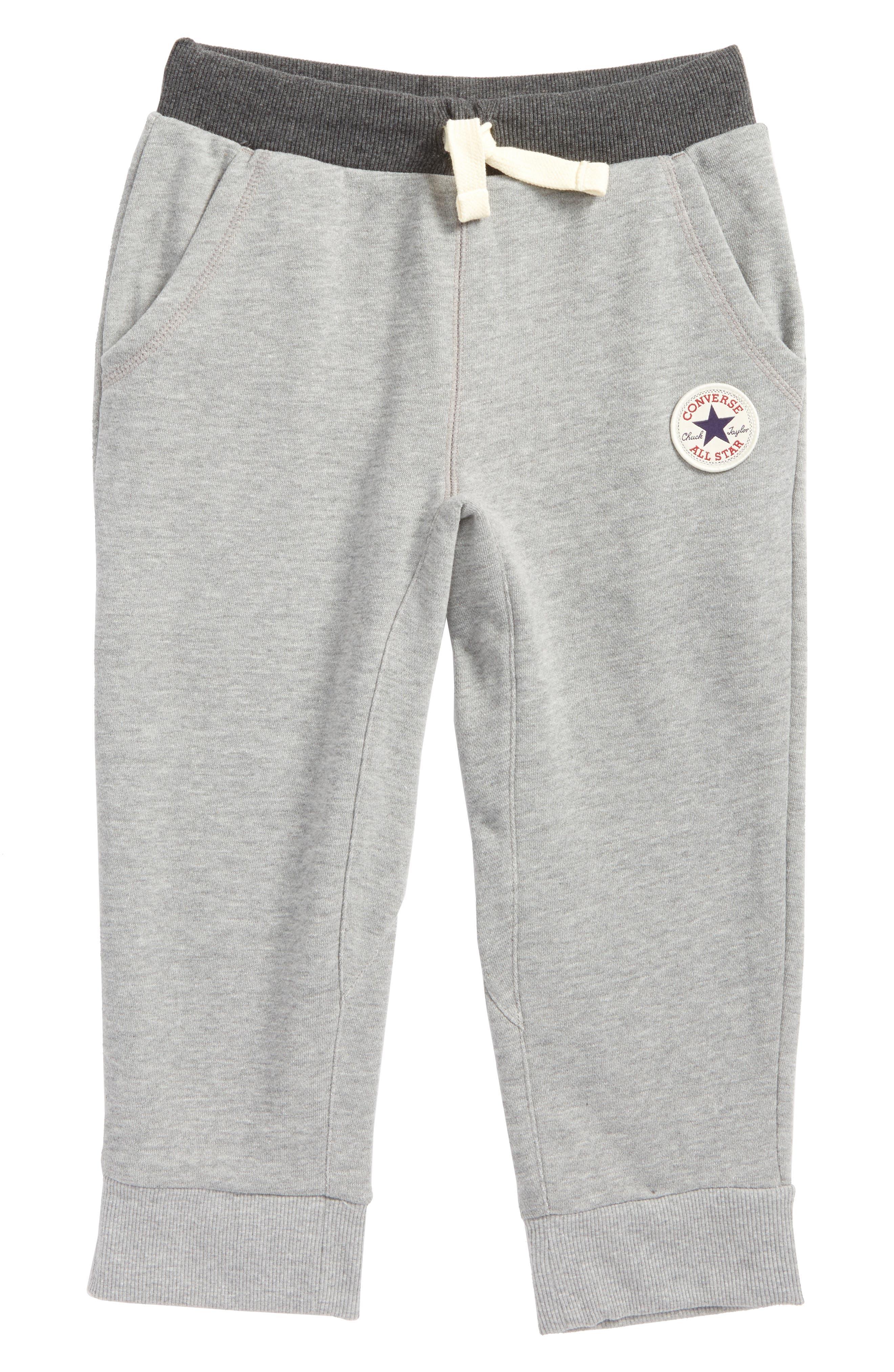 Crop Sweatpants,                         Main,                         color, Dark Grey Heather