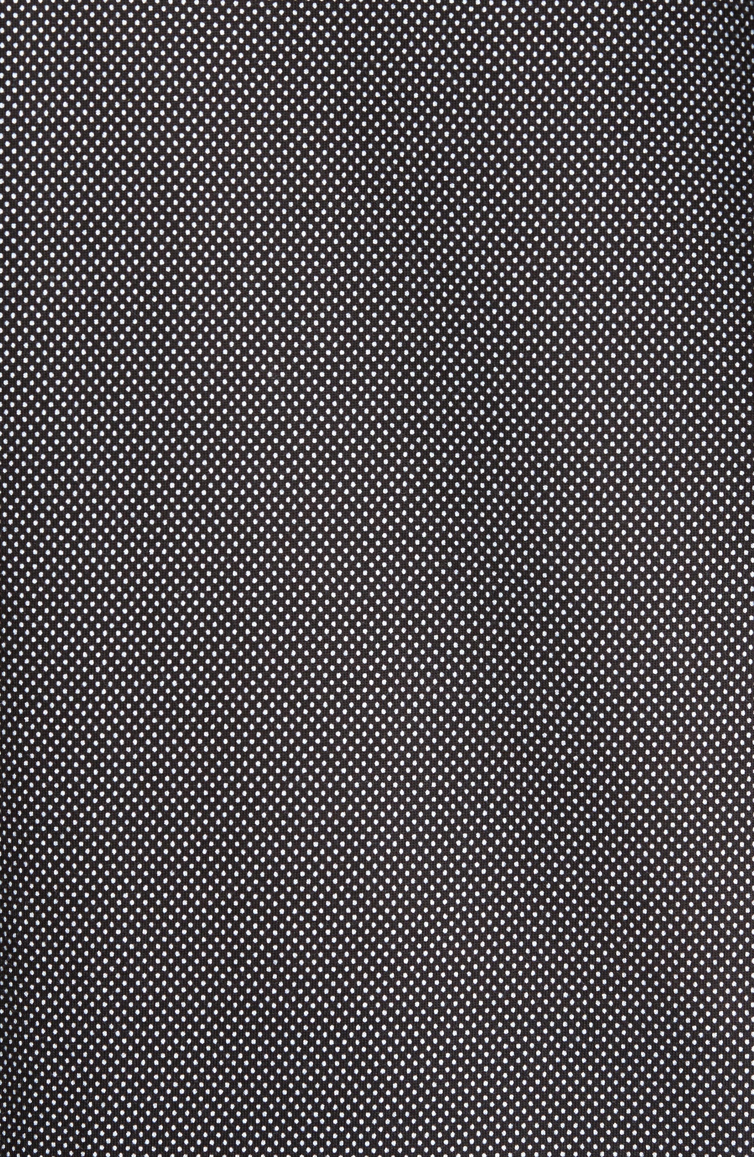 Slim Fit Micro Dot Knit Sport Shirt,                             Alternate thumbnail 5, color,                             Black