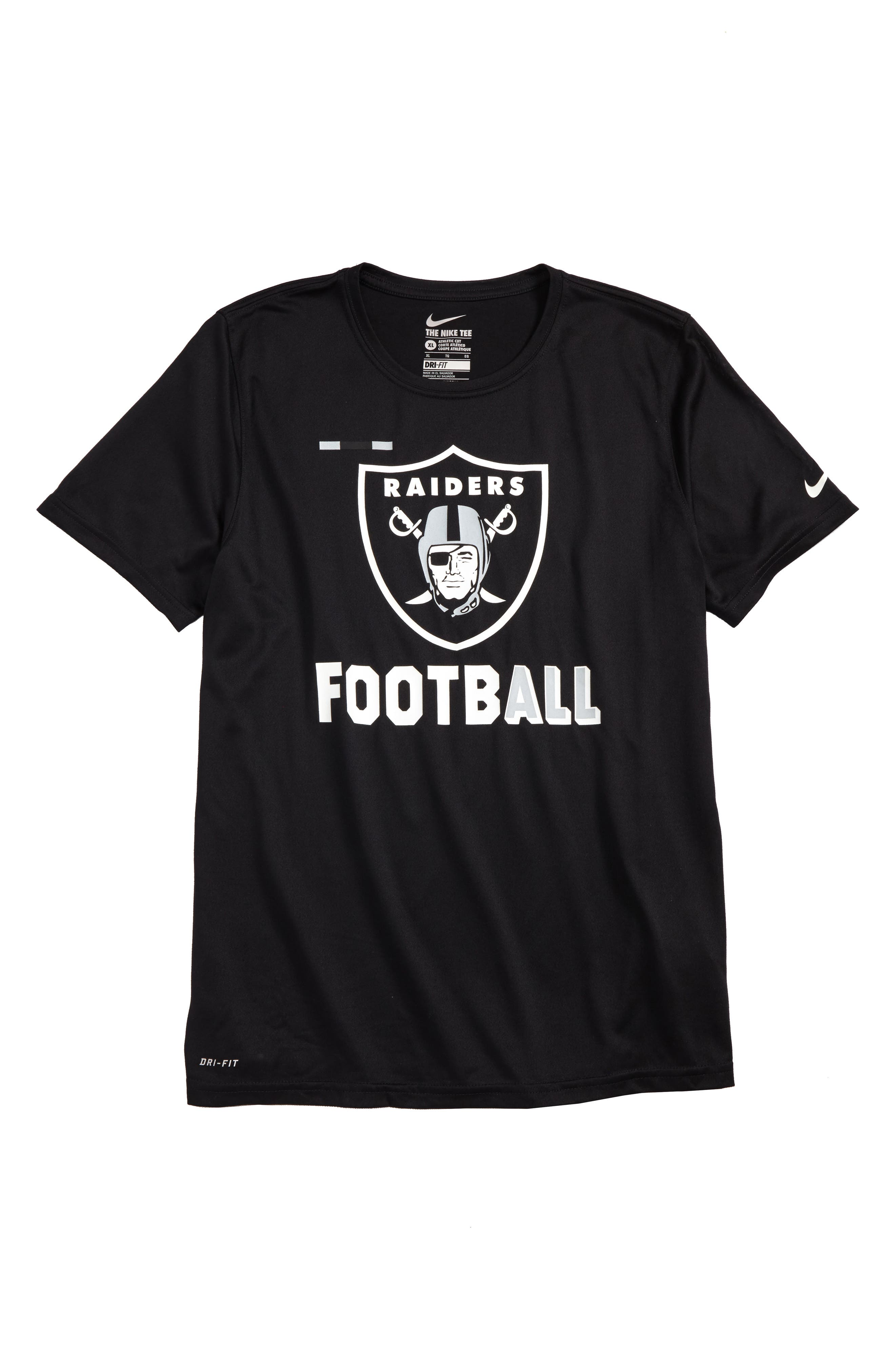 Main Image - Nike NFL Logo - Oakland Raiders Dry T-Shirt (Big Boys)