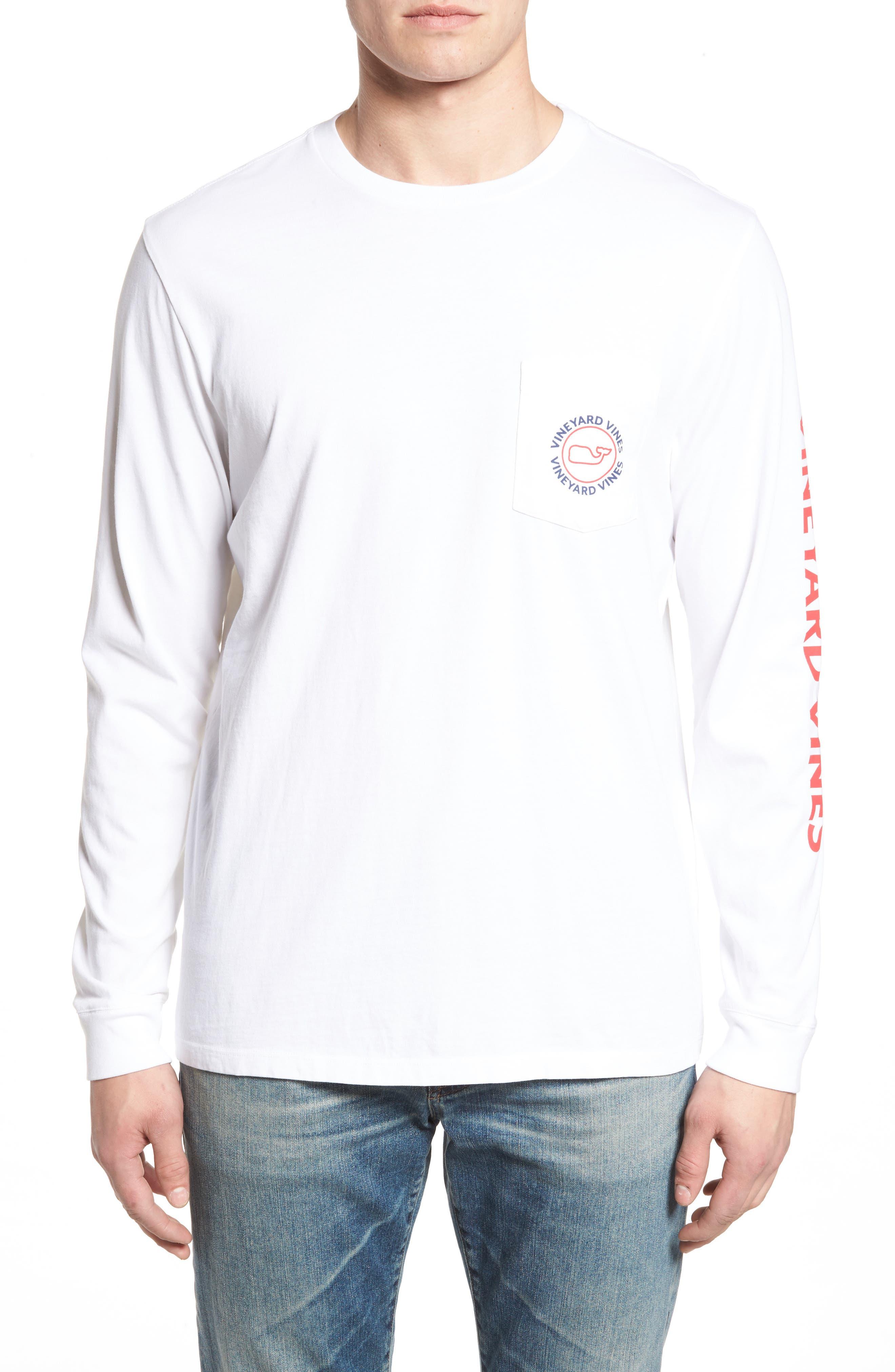 Logo Graphic Long Sleeve T-Shirt,                         Main,                         color, White Cap