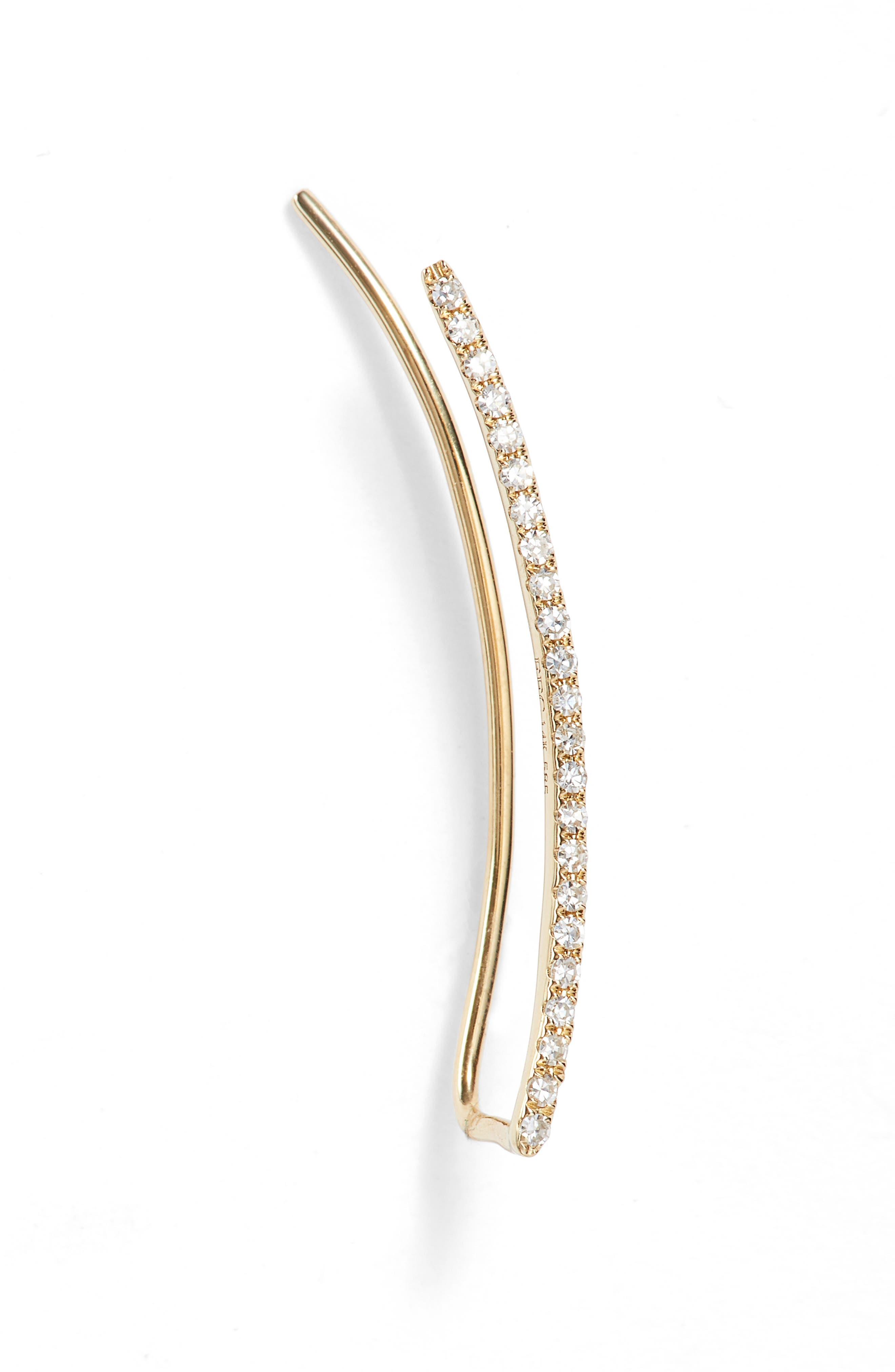 Main Image - EF COLLECTION Diamond Ear Crawler