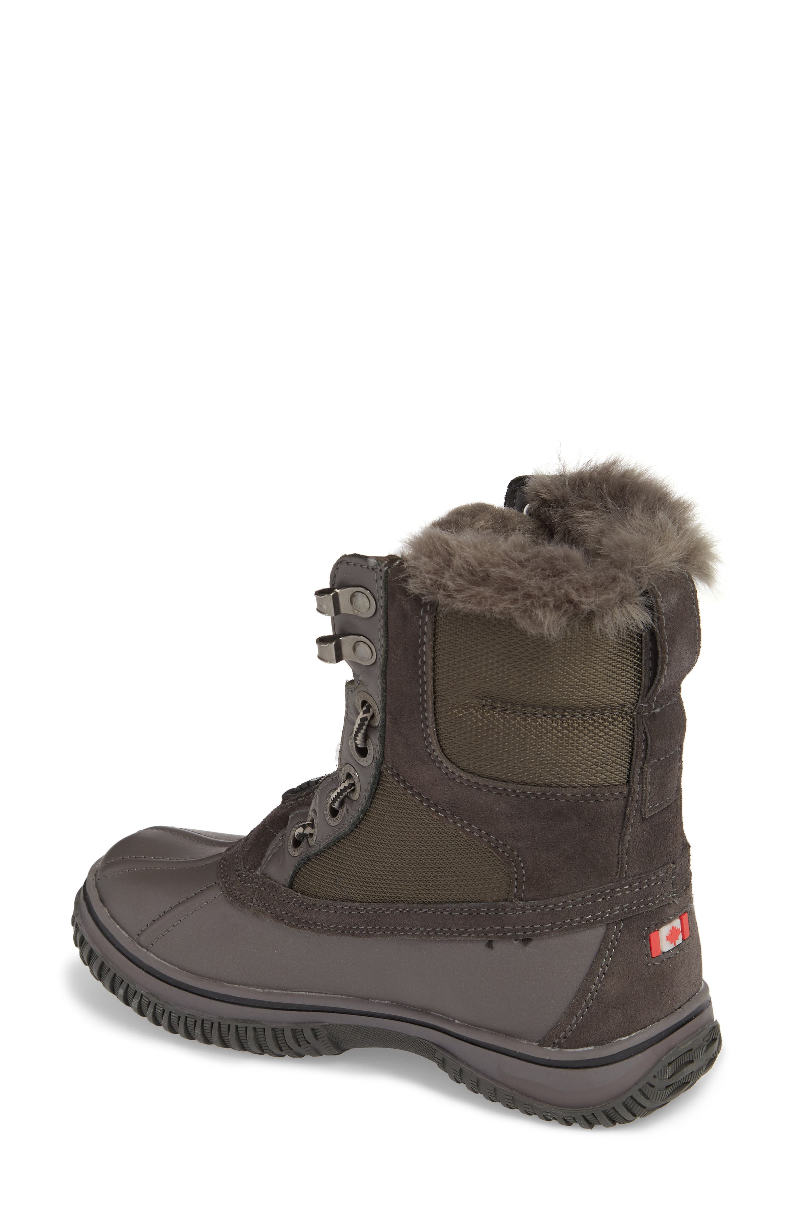Gayanna Waterproof Winter Boot,                             Alternate thumbnail 2, color,                             Pewter Leather