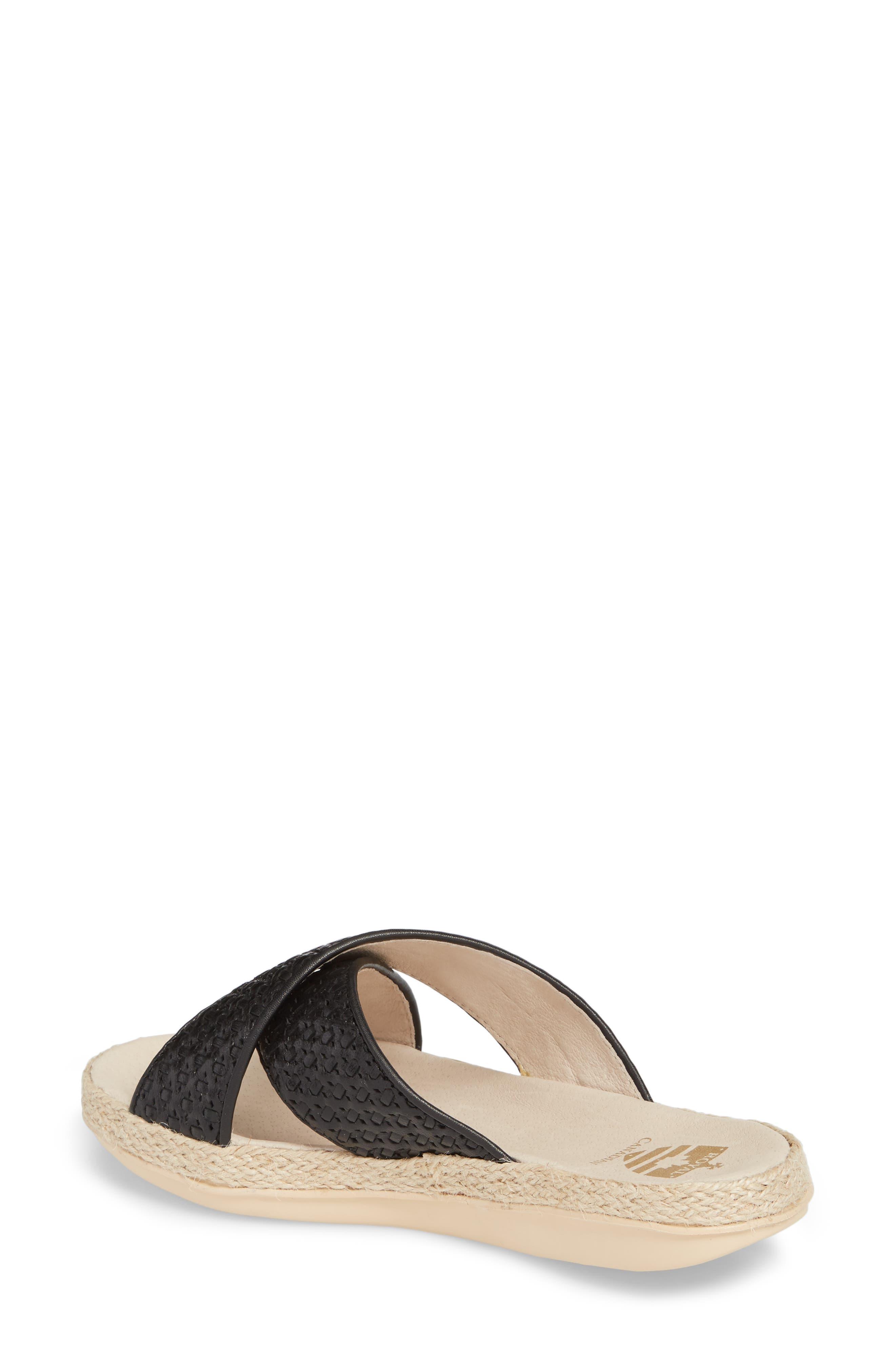 Glencairn Sandal,                             Alternate thumbnail 2, color,                             Black Leather