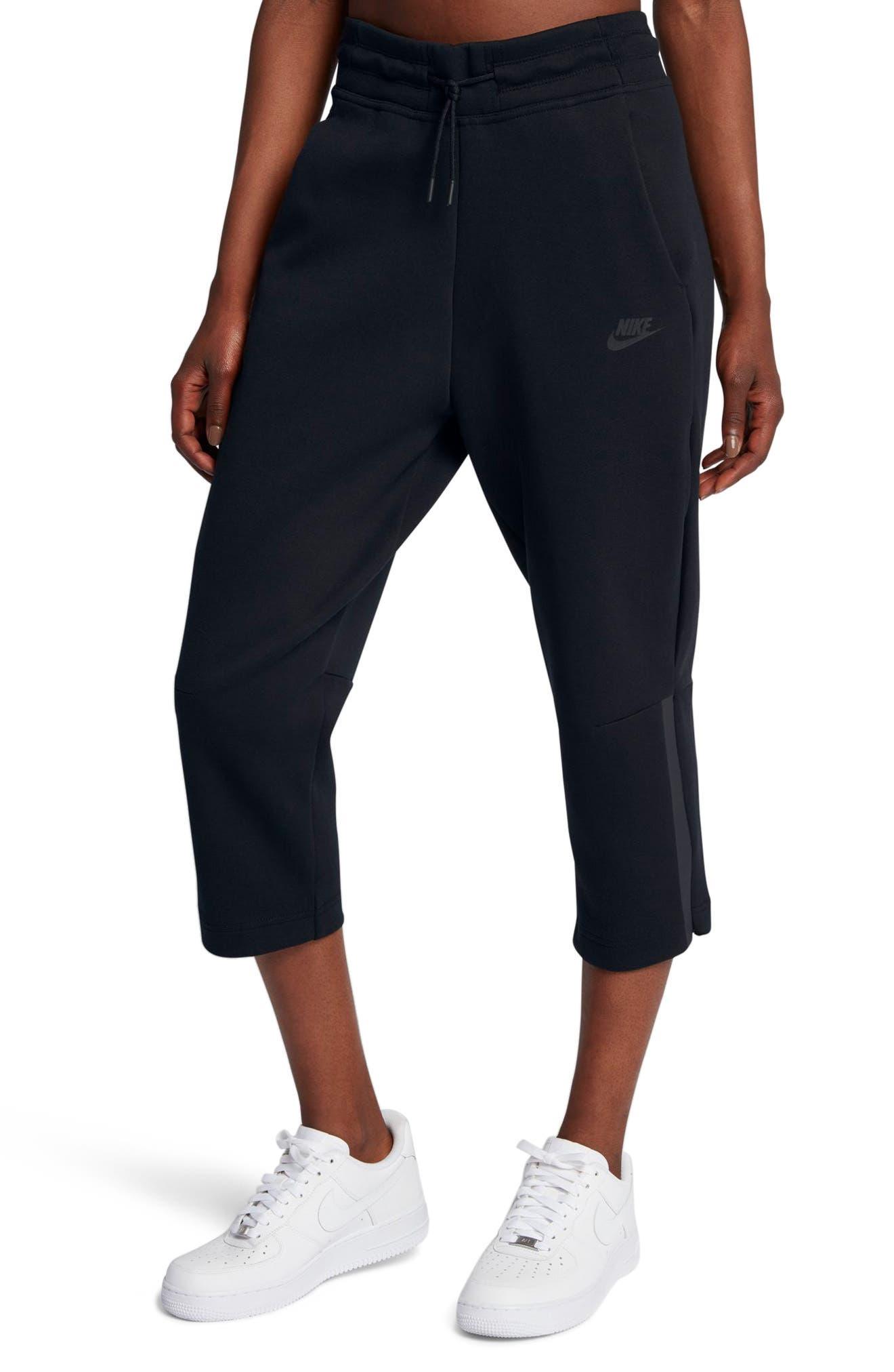 Sportswear Women's Tech Fleece Sneaker Pants,                             Main thumbnail 1, color,                             Black/ Black