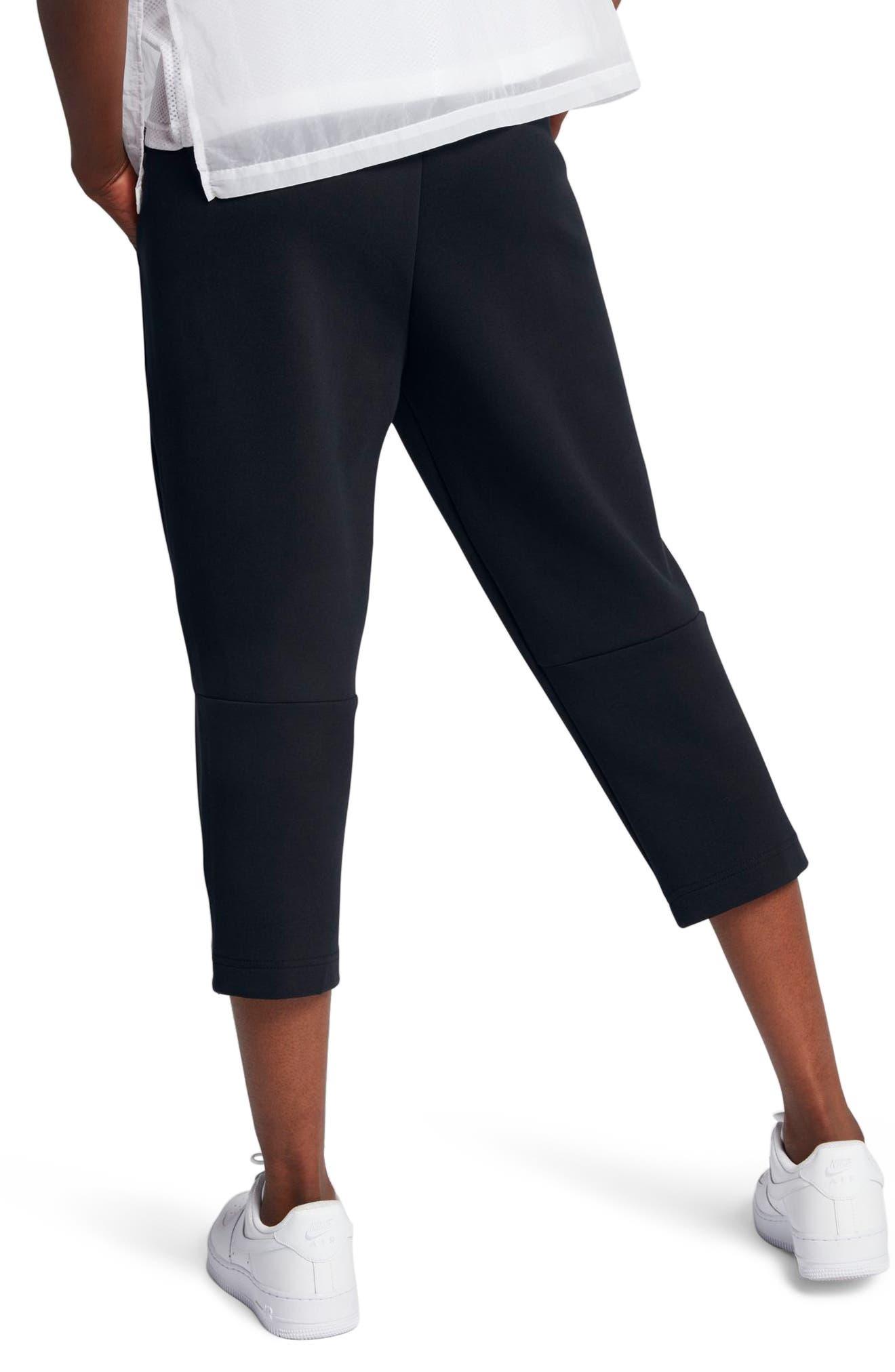 Sportswear Women's Tech Fleece Sneaker Pants,                             Alternate thumbnail 4, color,                             Black/ Black