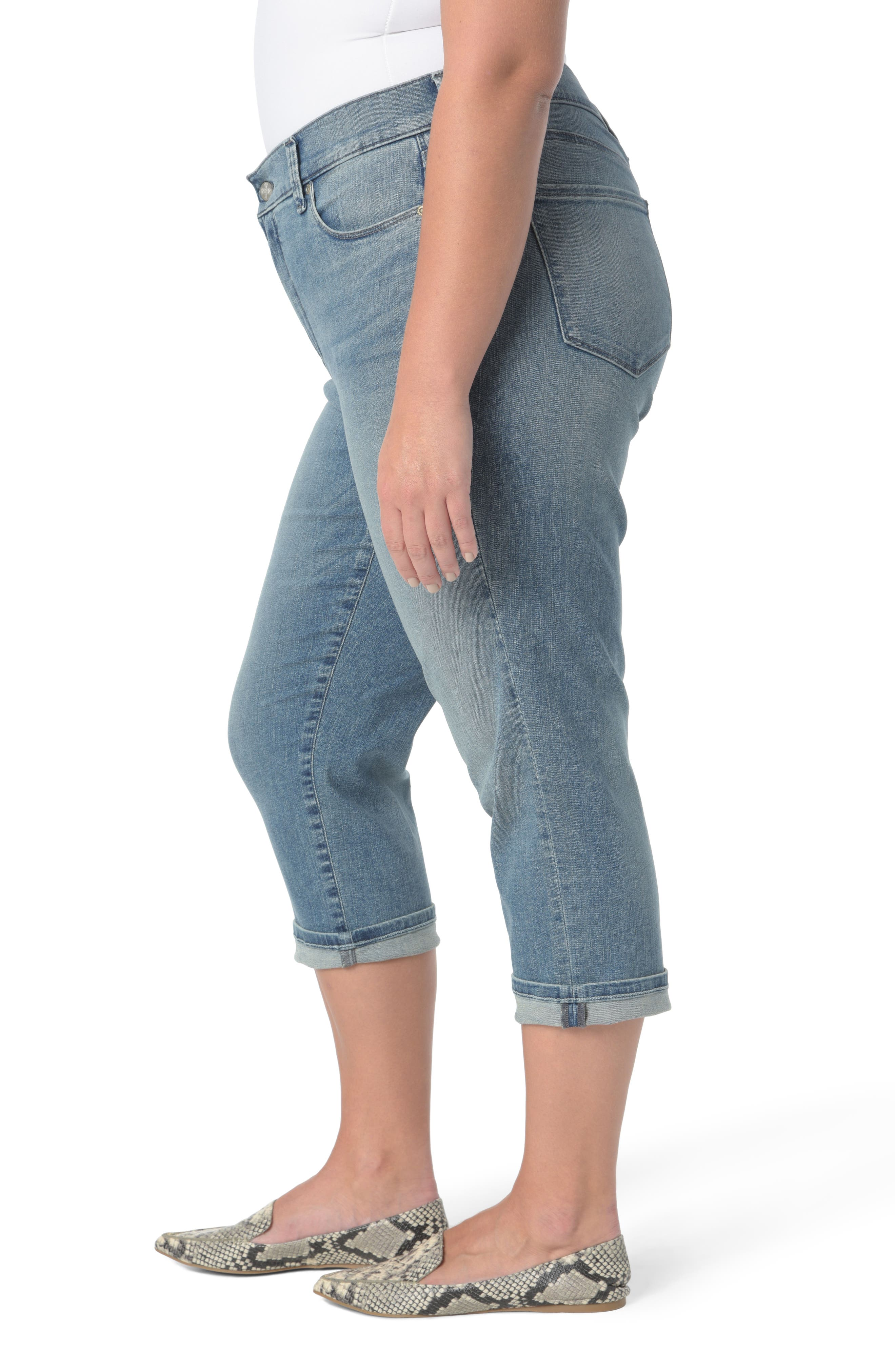 Marilyn Crop Cuff Jeans,                             Alternate thumbnail 3, color,                             Pacific