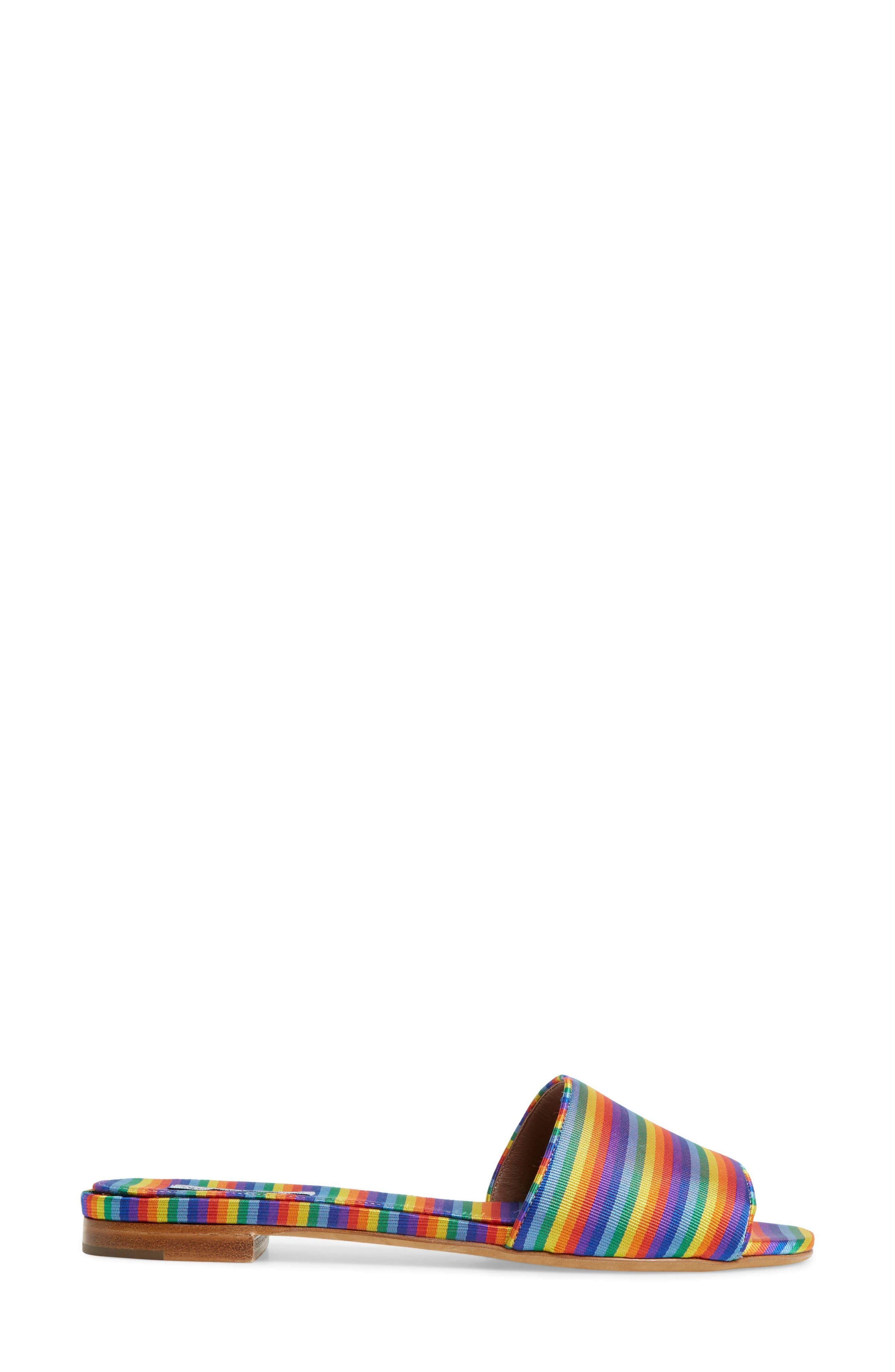 Sprinkles Slide Sandal,                             Alternate thumbnail 3, color,                             Rainbow