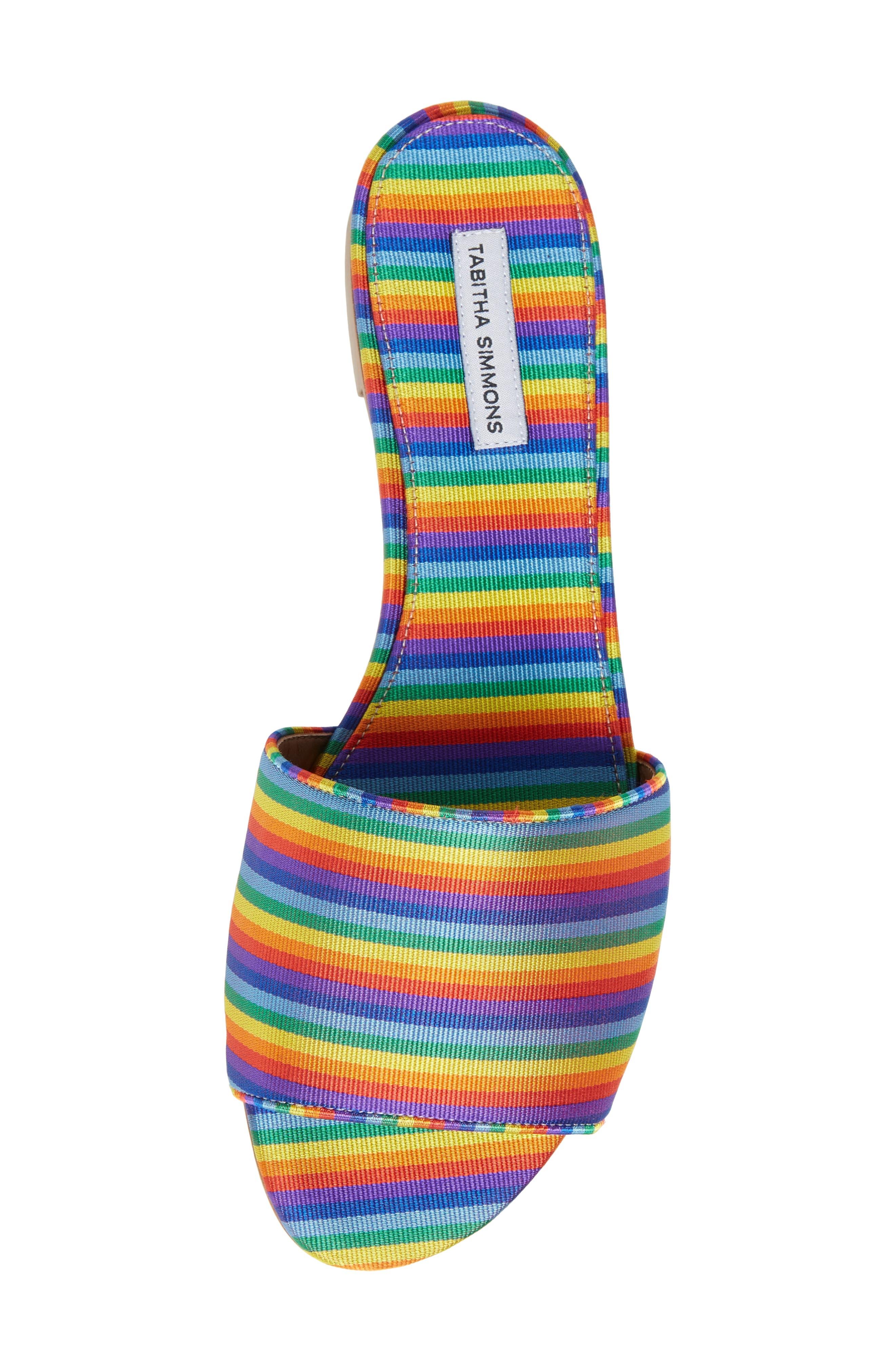 Sprinkles Slide Sandal,                             Alternate thumbnail 5, color,                             Rainbow