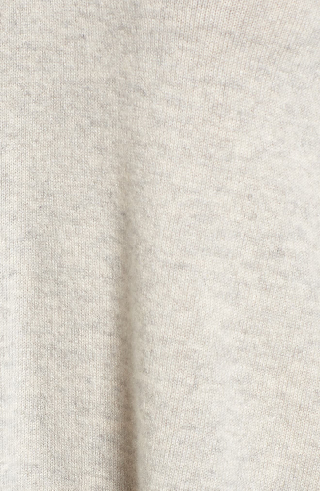 Marylee Cashmere Top,                             Alternate thumbnail 5, color,                             Light Heather Grey