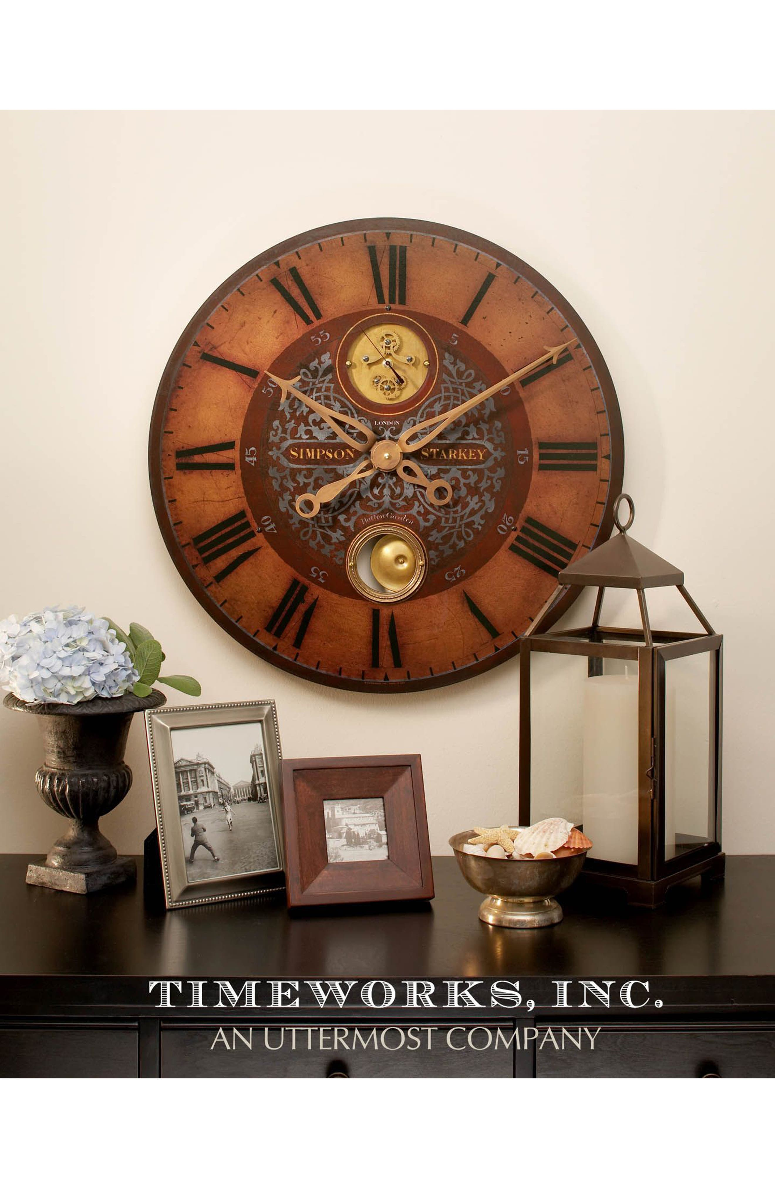 Alternate Image 2  - Uttermost Simpson Starkey Wall Clock