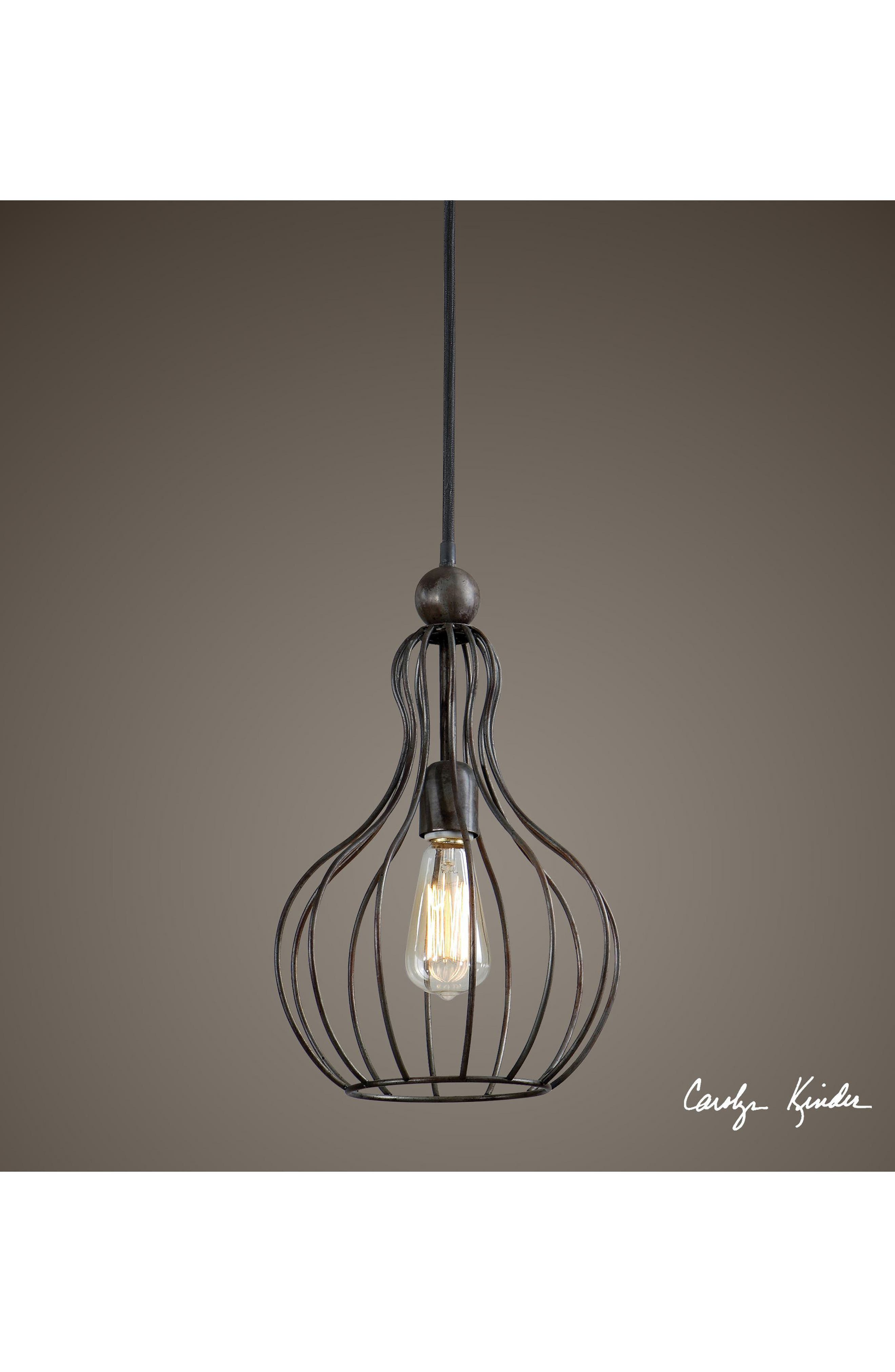 Bourret Pendant Lamp,                             Alternate thumbnail 2, color,                             Black