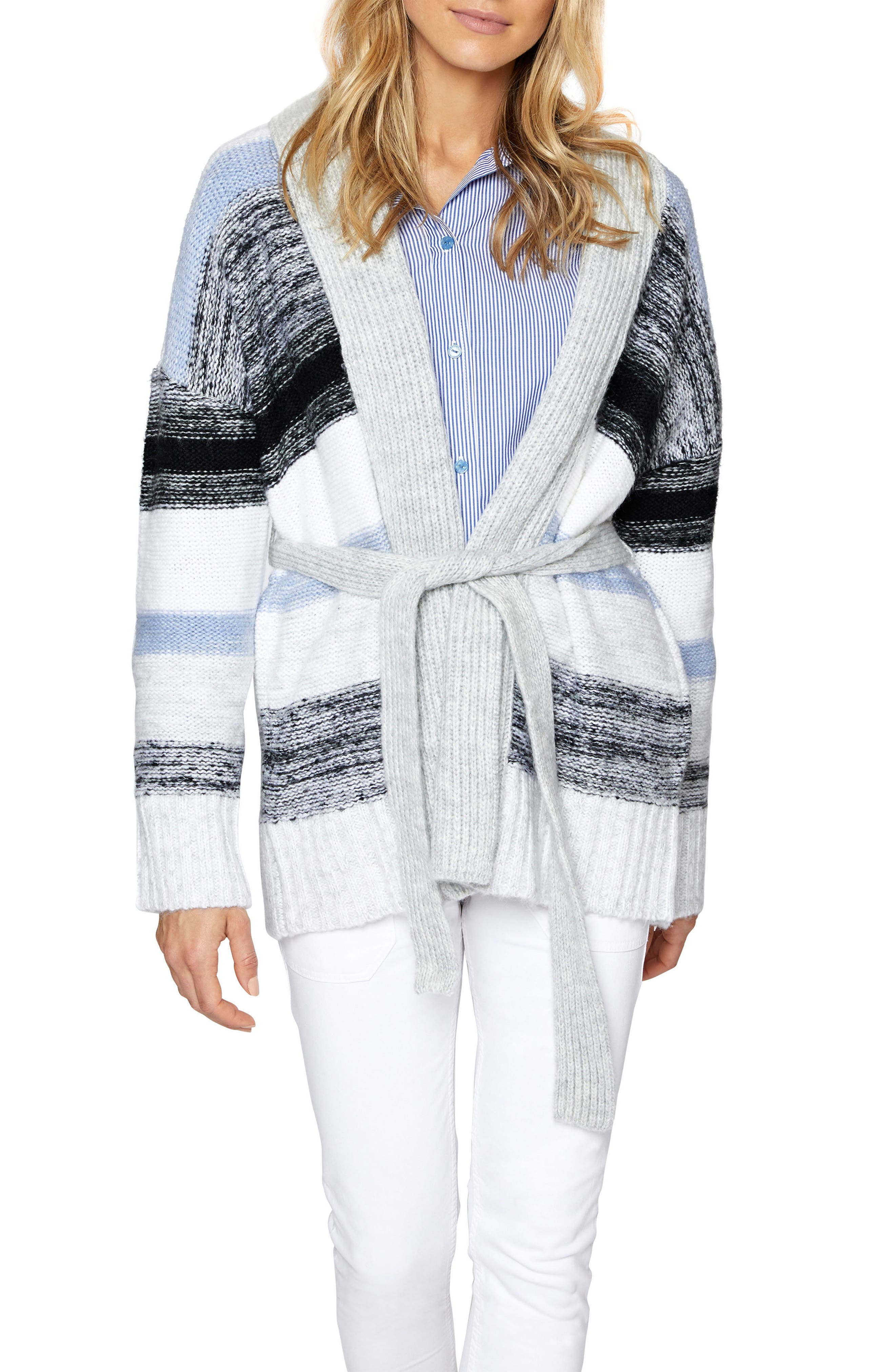 Sigrid Belted Knit Cardigan,                         Main,                         color, Multi Colored