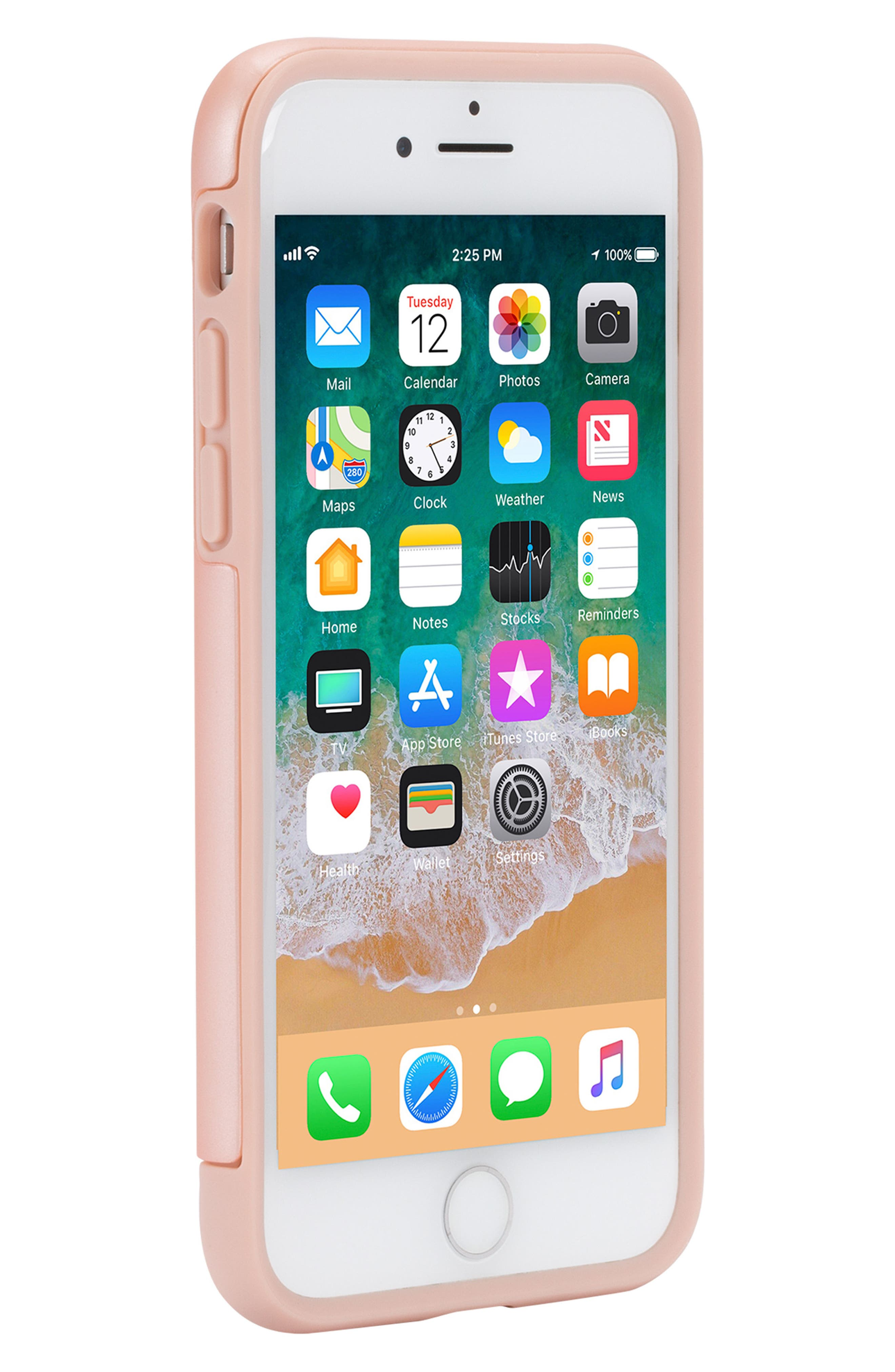 Dual Snap iPhone 7/8 Case,                             Alternate thumbnail 6, color,                             Rose Gold