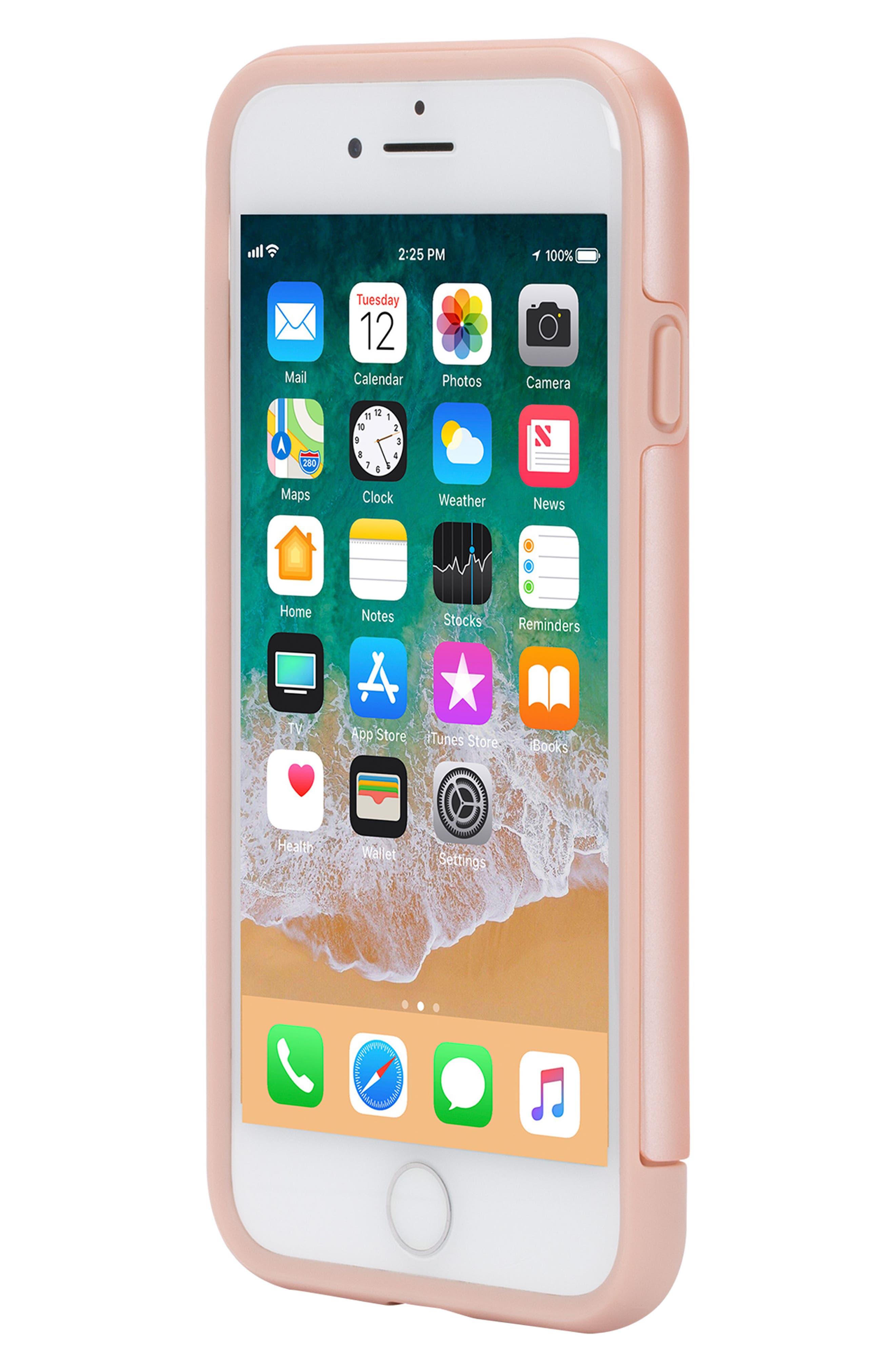 Dual Snap iPhone 7/8 Case,                             Alternate thumbnail 5, color,                             Rose Gold