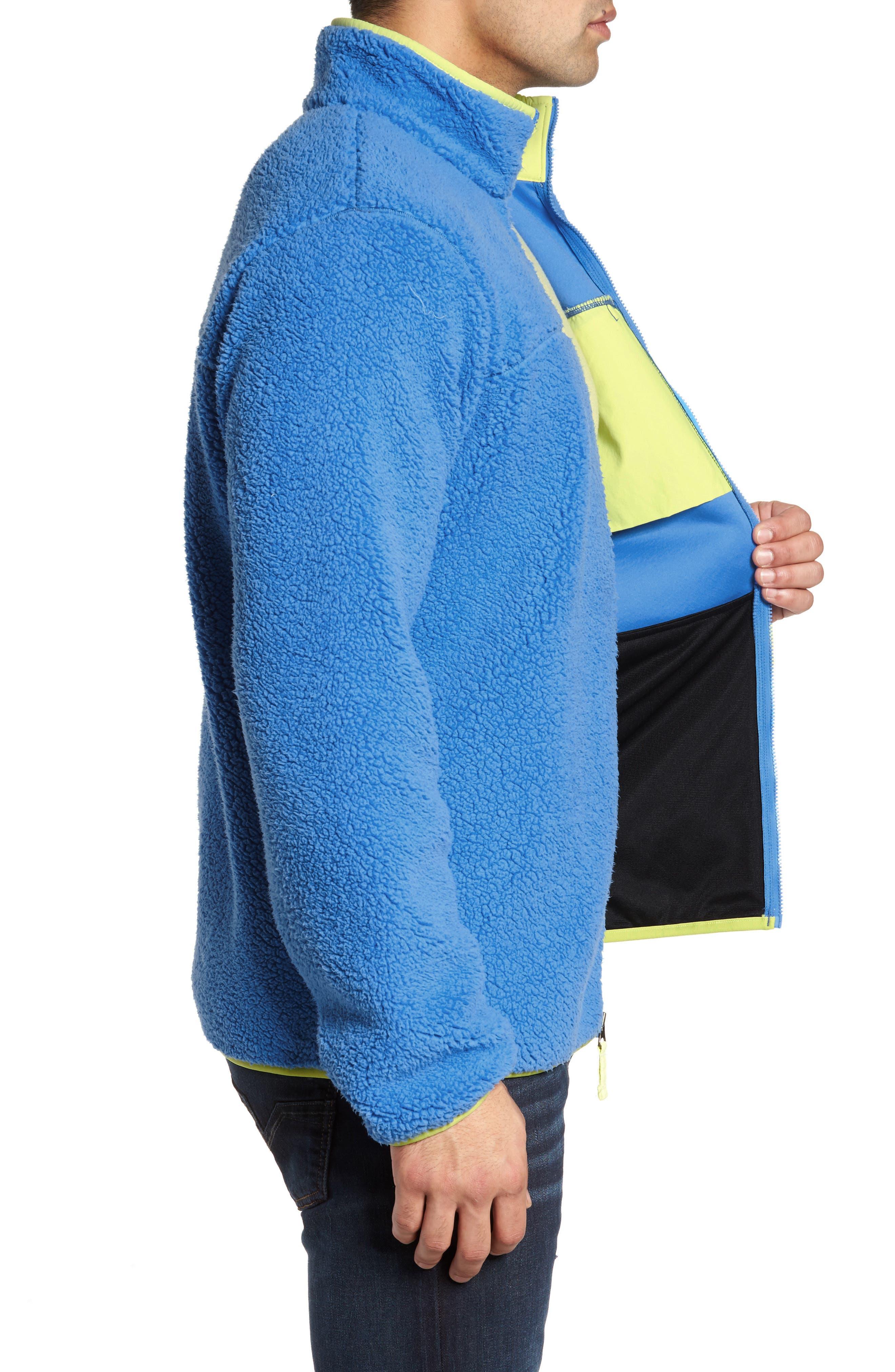 Harborside Fleece Jacket,                             Alternate thumbnail 3, color,                             Harbor Blue/ Neon Light