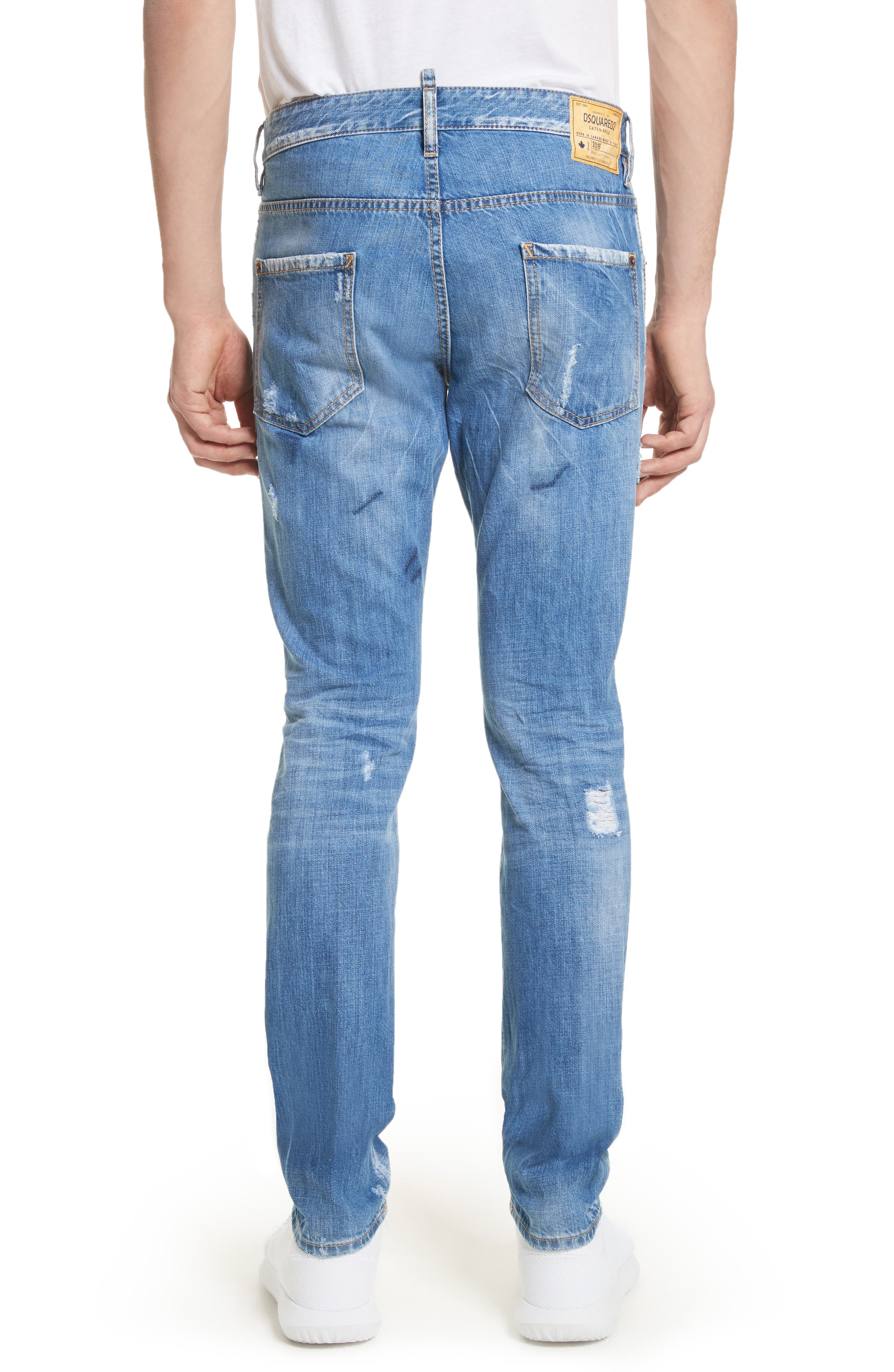 Cool Guy Skinny Fit Jeans,                             Alternate thumbnail 2, color,                             Navy/Blue