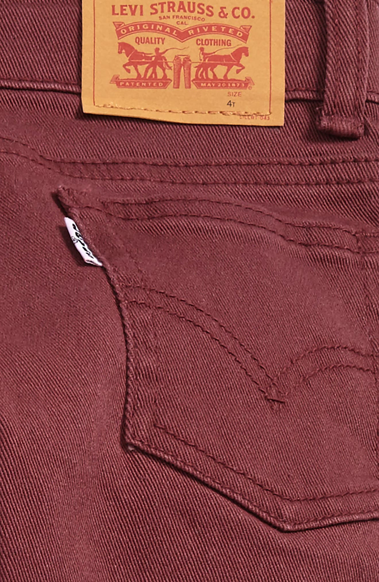 511<sup>™</sup> Slim Fit Jeans,                             Alternate thumbnail 3, color,                             Red Mahogany