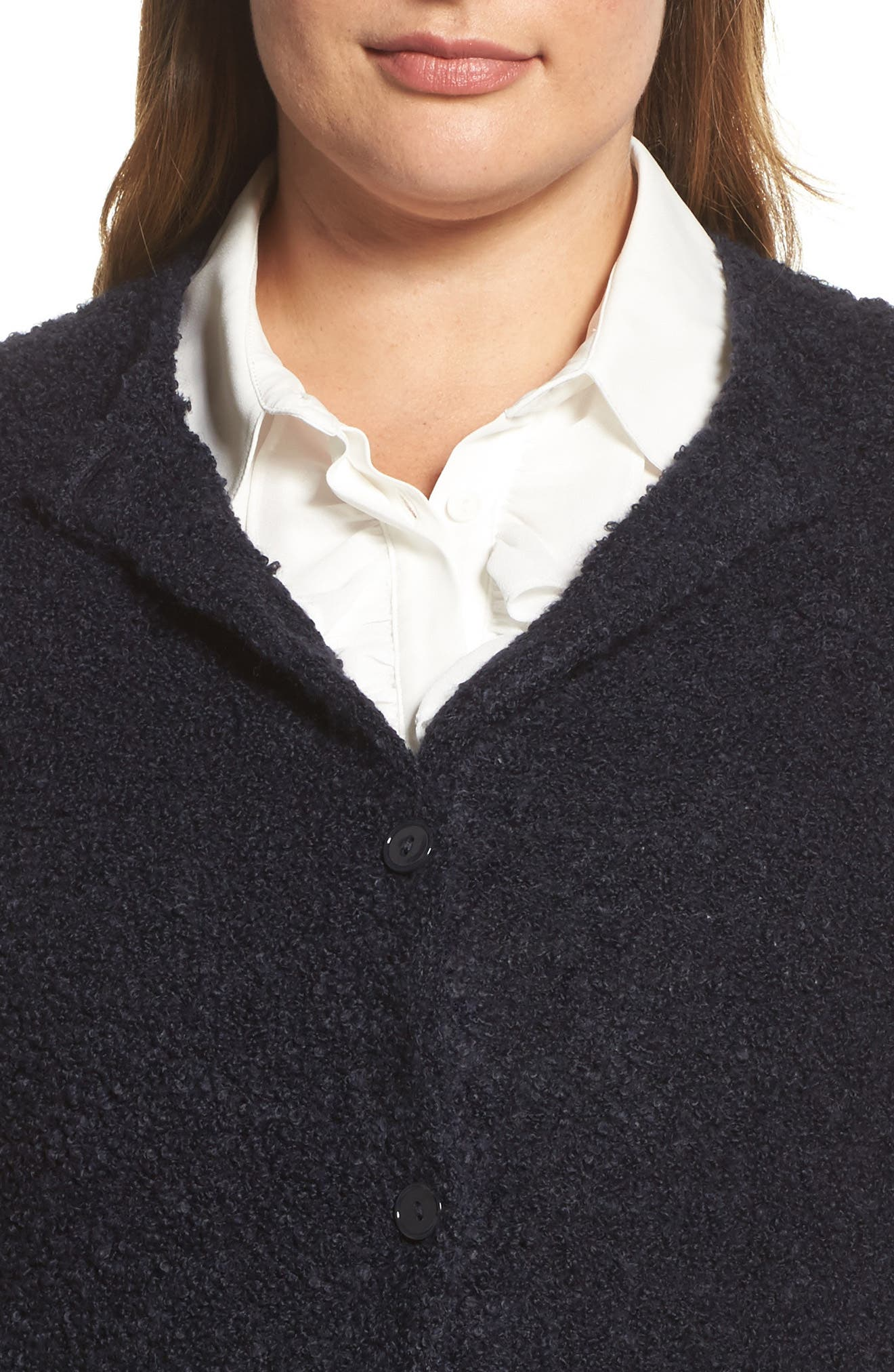 Melodico Button-Up Sweater,                             Alternate thumbnail 4, color,                             Navy
