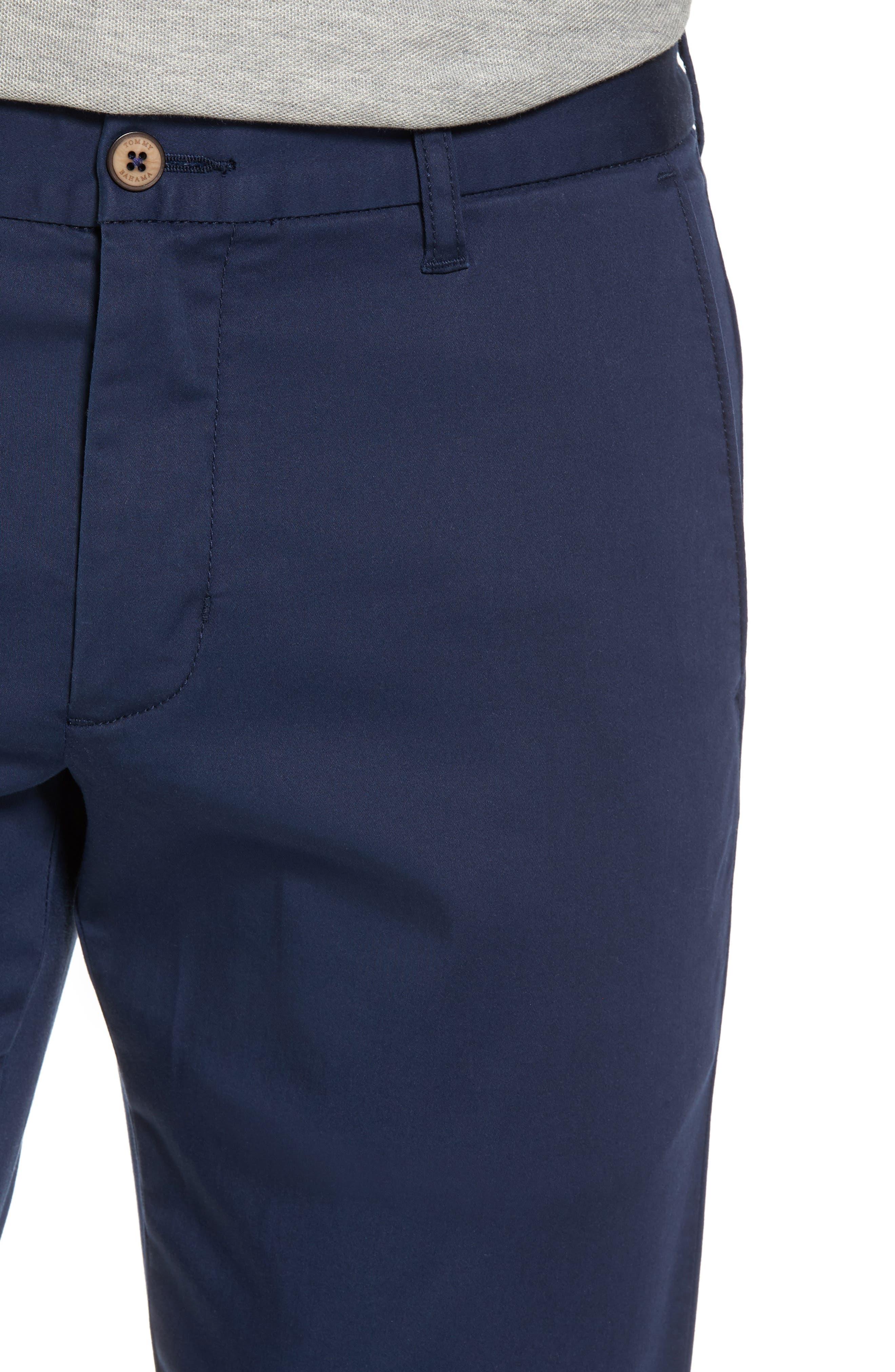 Boracay Flat Front Pants,                             Alternate thumbnail 4, color,                             Maritime