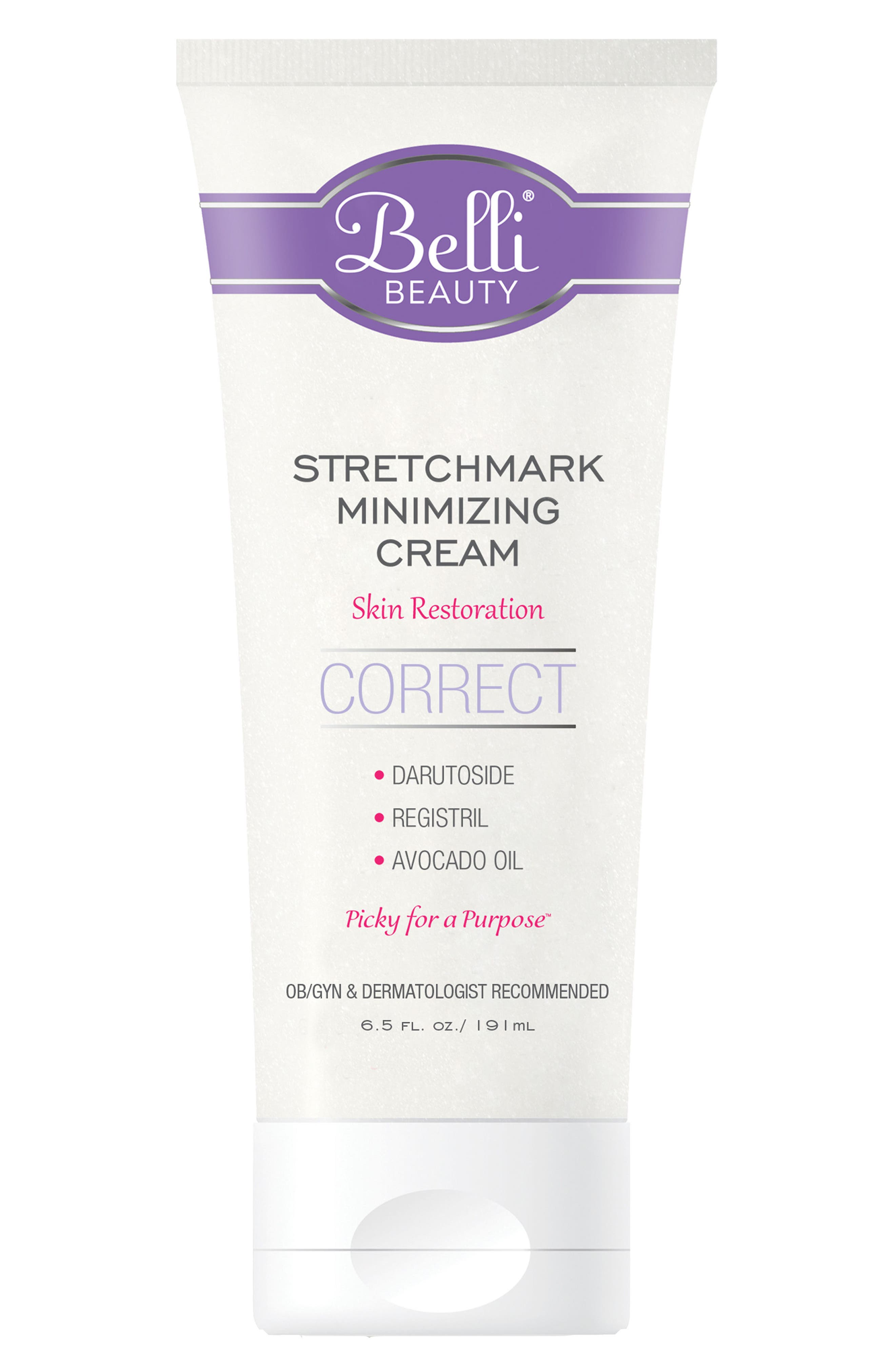 Stretchmark Minimizing Cream for Skin Restoration,                             Main thumbnail 1, color,                             White