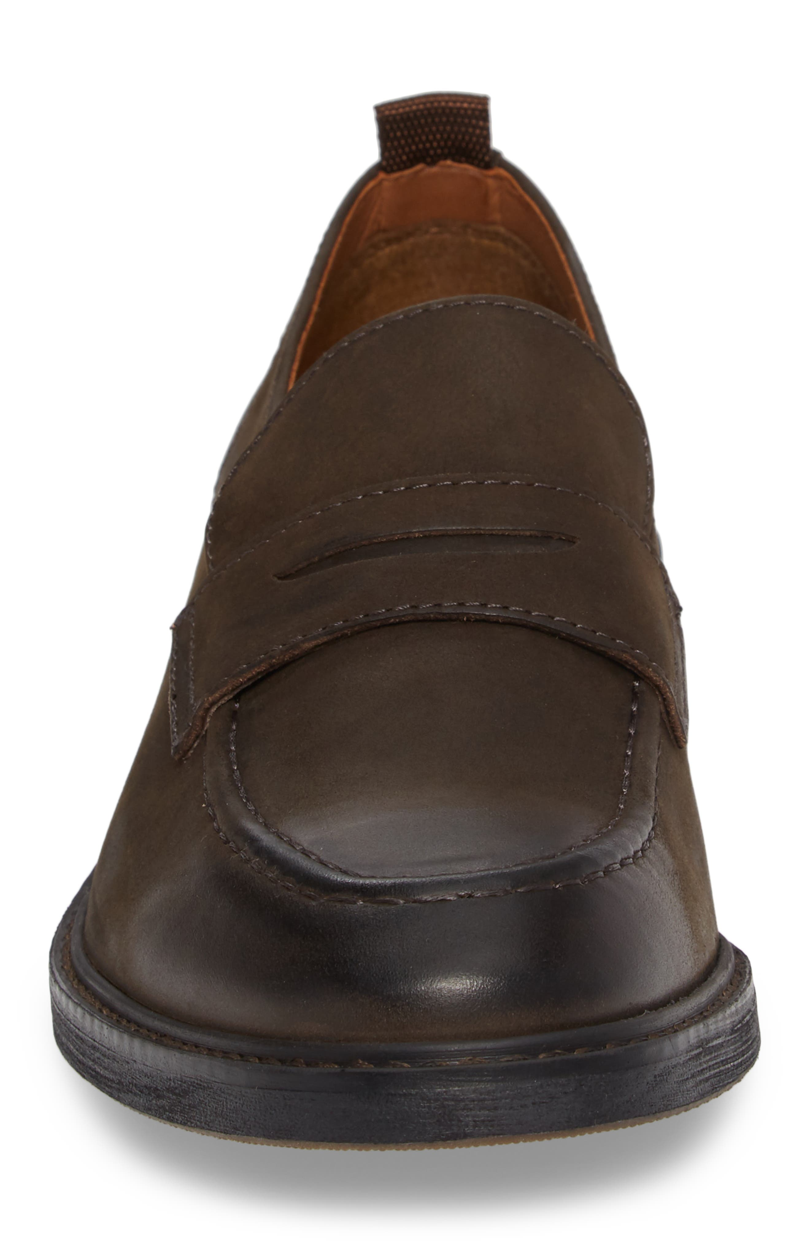 Harrington Penny Loafer,                             Alternate thumbnail 4, color,                             Chocolate Leather