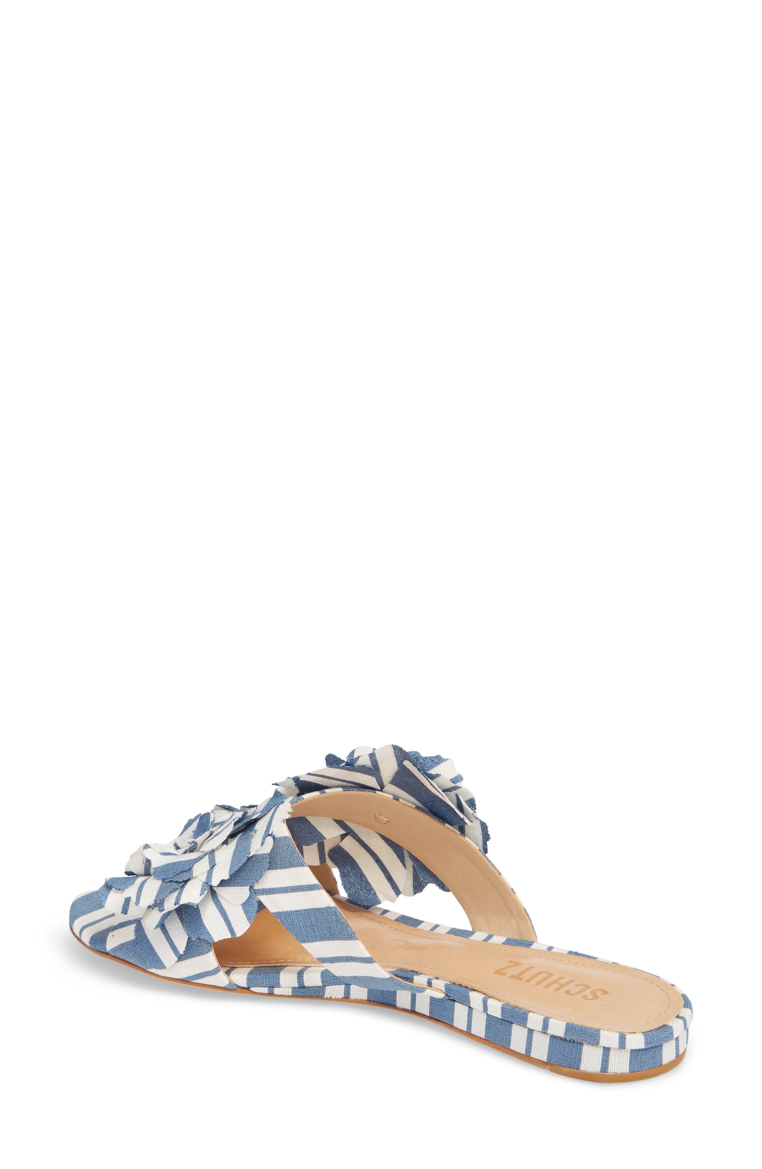 Ilaria Flower Sandal,                             Alternate thumbnail 2, color,                             Dress Blue
