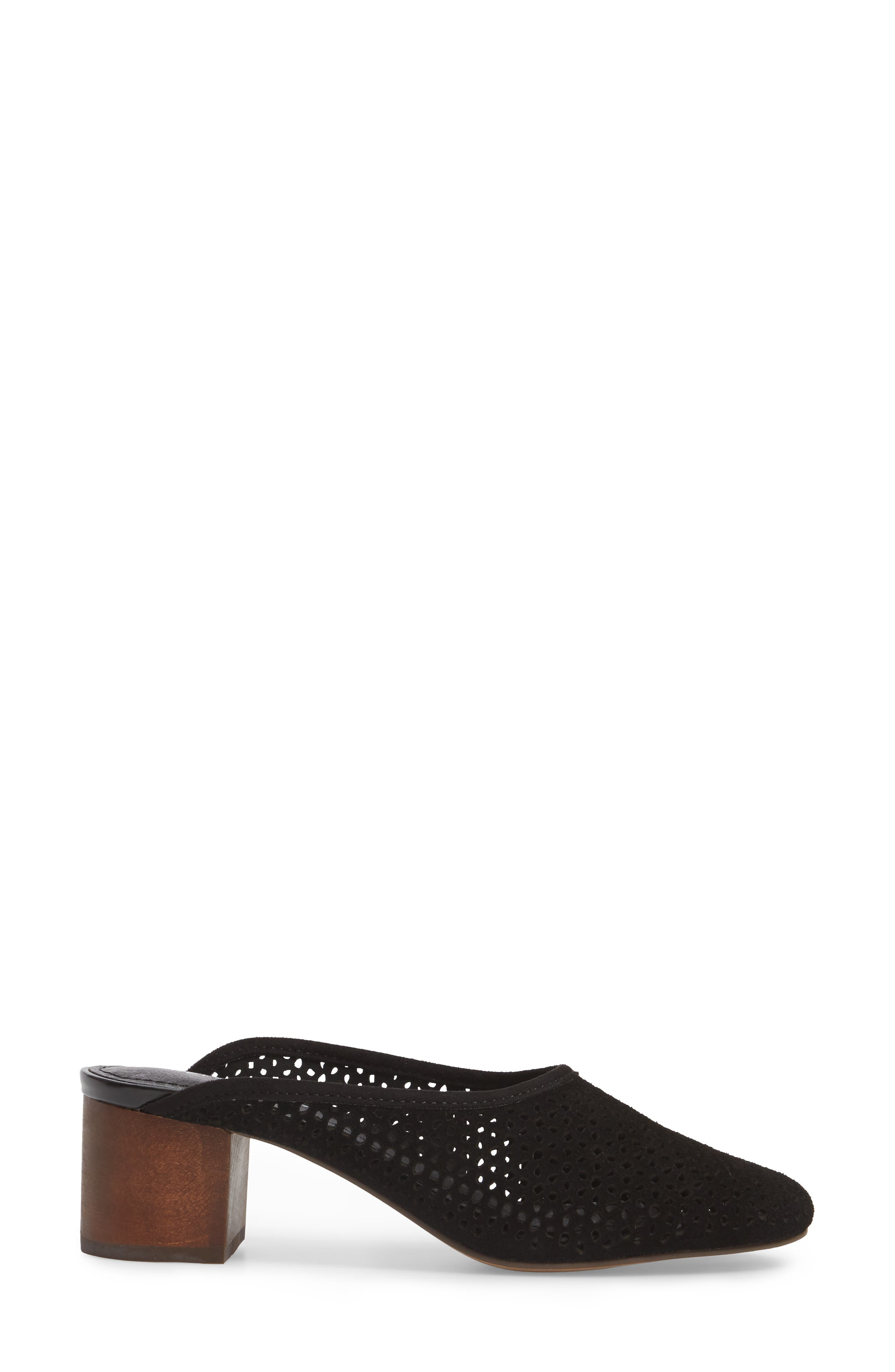 Lincoln Perforated Mule,                             Alternate thumbnail 3, color,                             Black