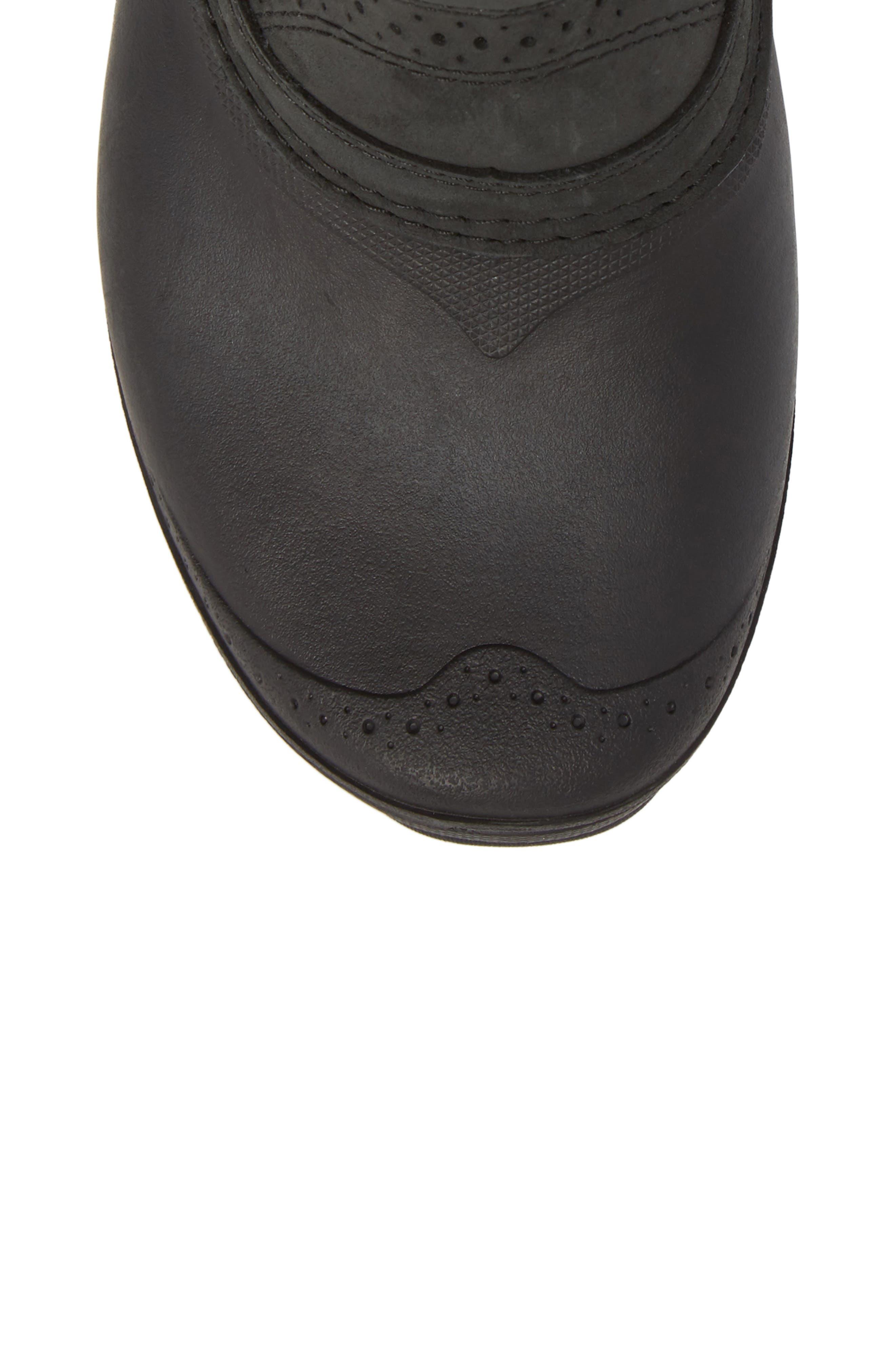 Shellista III Waterproof Pull-On Snow Boot,                             Alternate thumbnail 5, color,                             Tnf Black