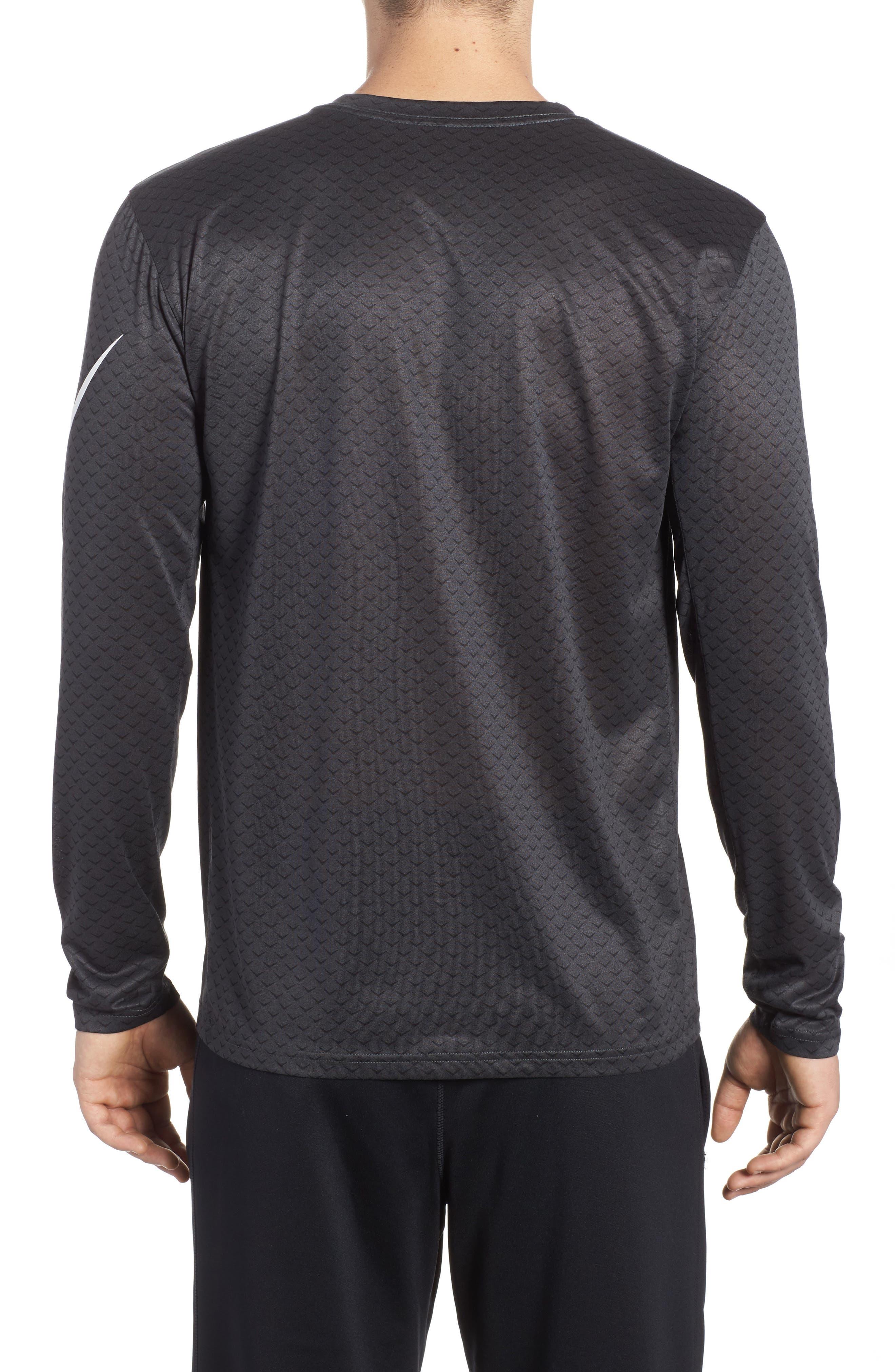 Dry Legend Training T-Shirt,                             Alternate thumbnail 2, color,                             Anthracite/ White