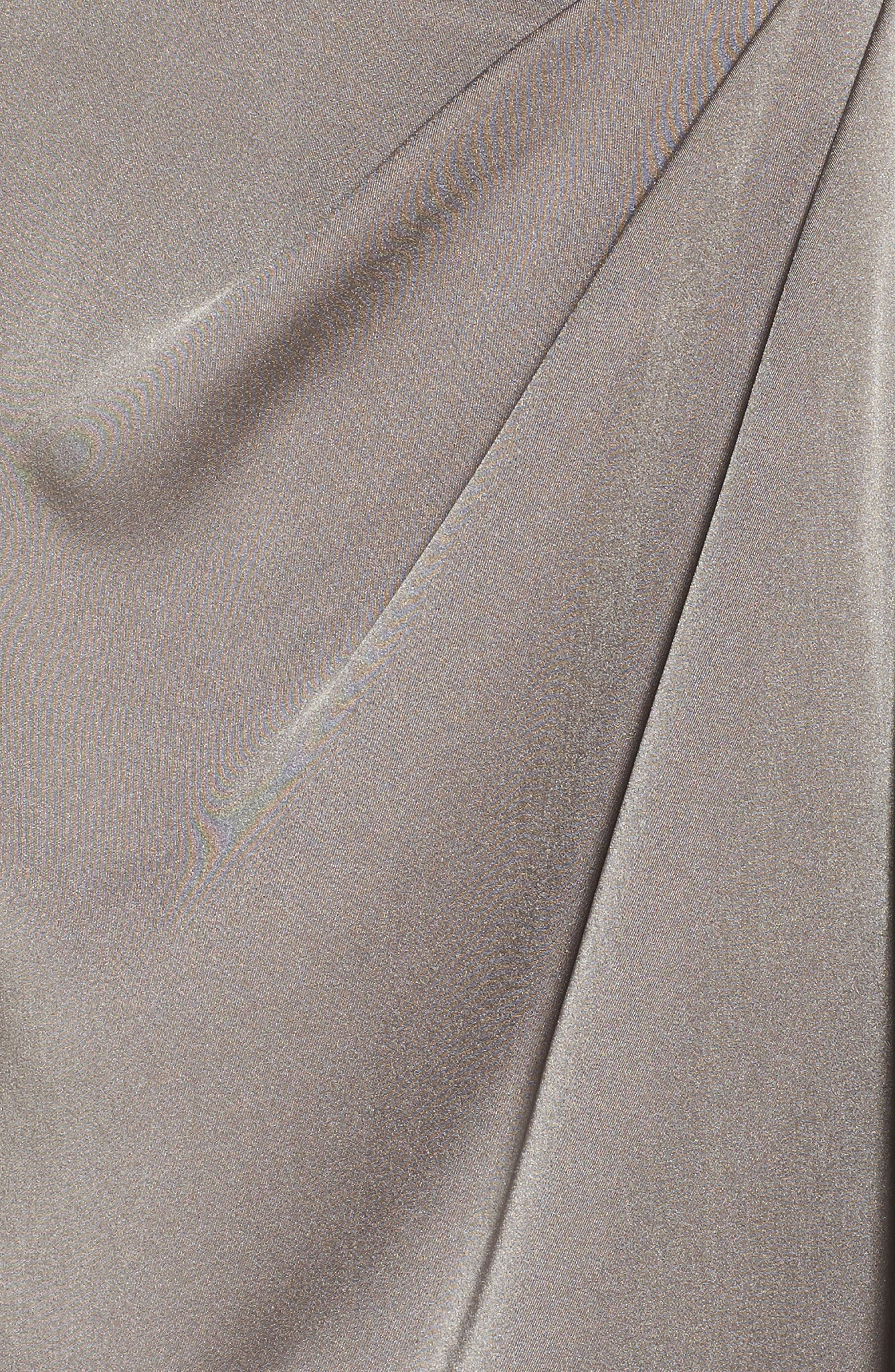 Surplice Off the Shoulder Gown,                             Alternate thumbnail 5, color,                             Pewter