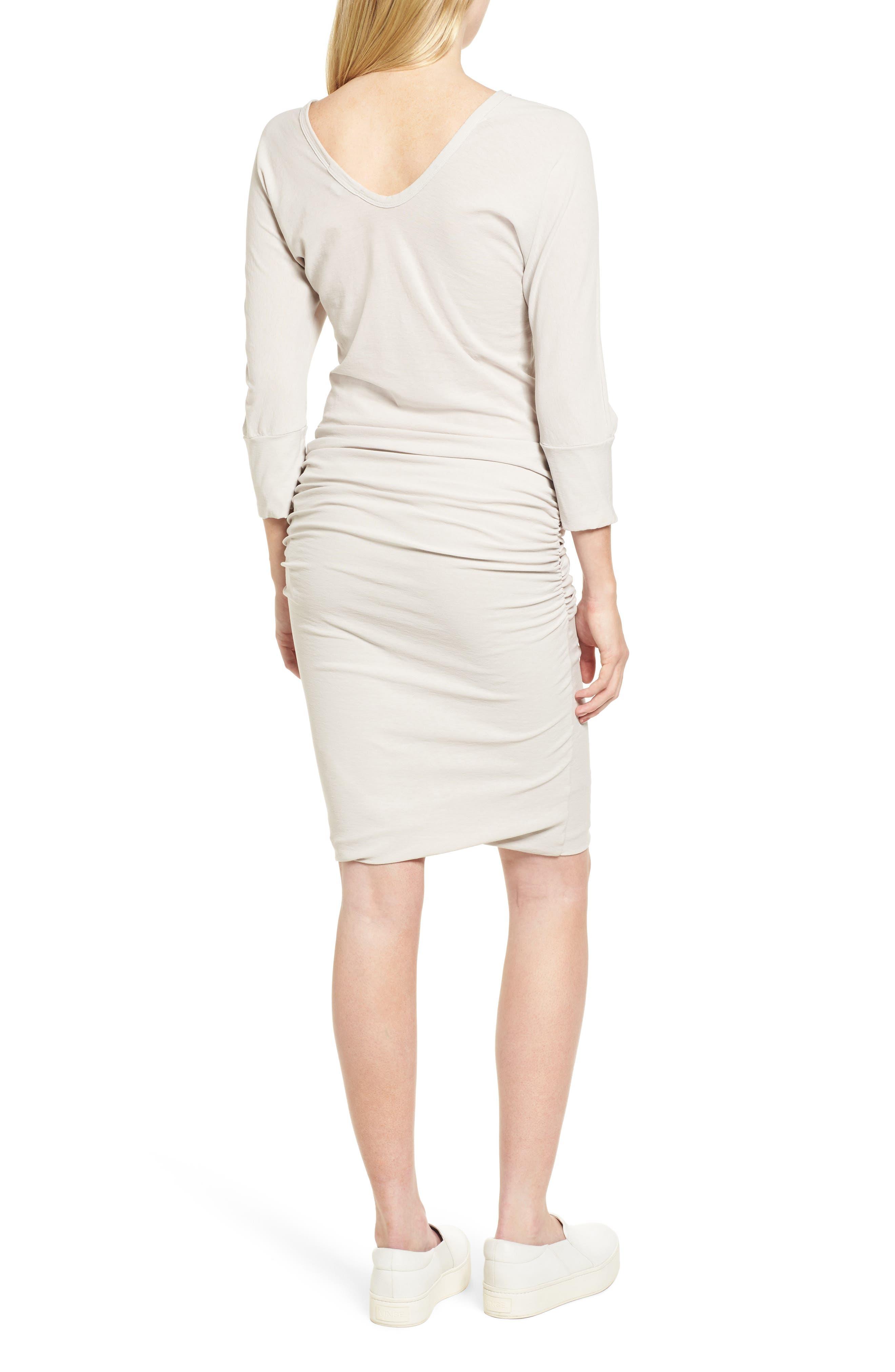 Shirred Cotton Dress,                             Alternate thumbnail 2, color,                             Dapple